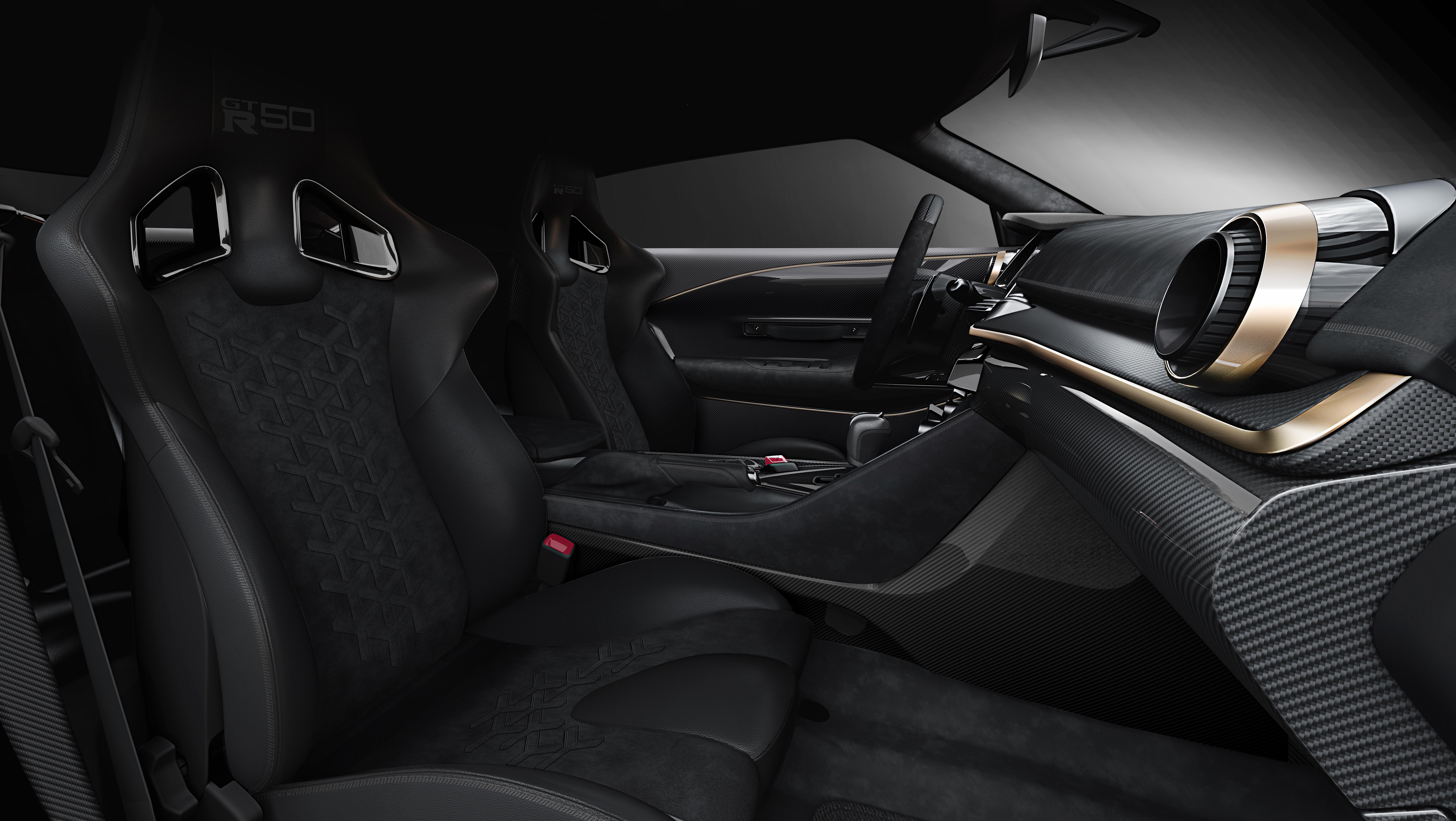 Nissan gt-r50 italdesign interior dashboard