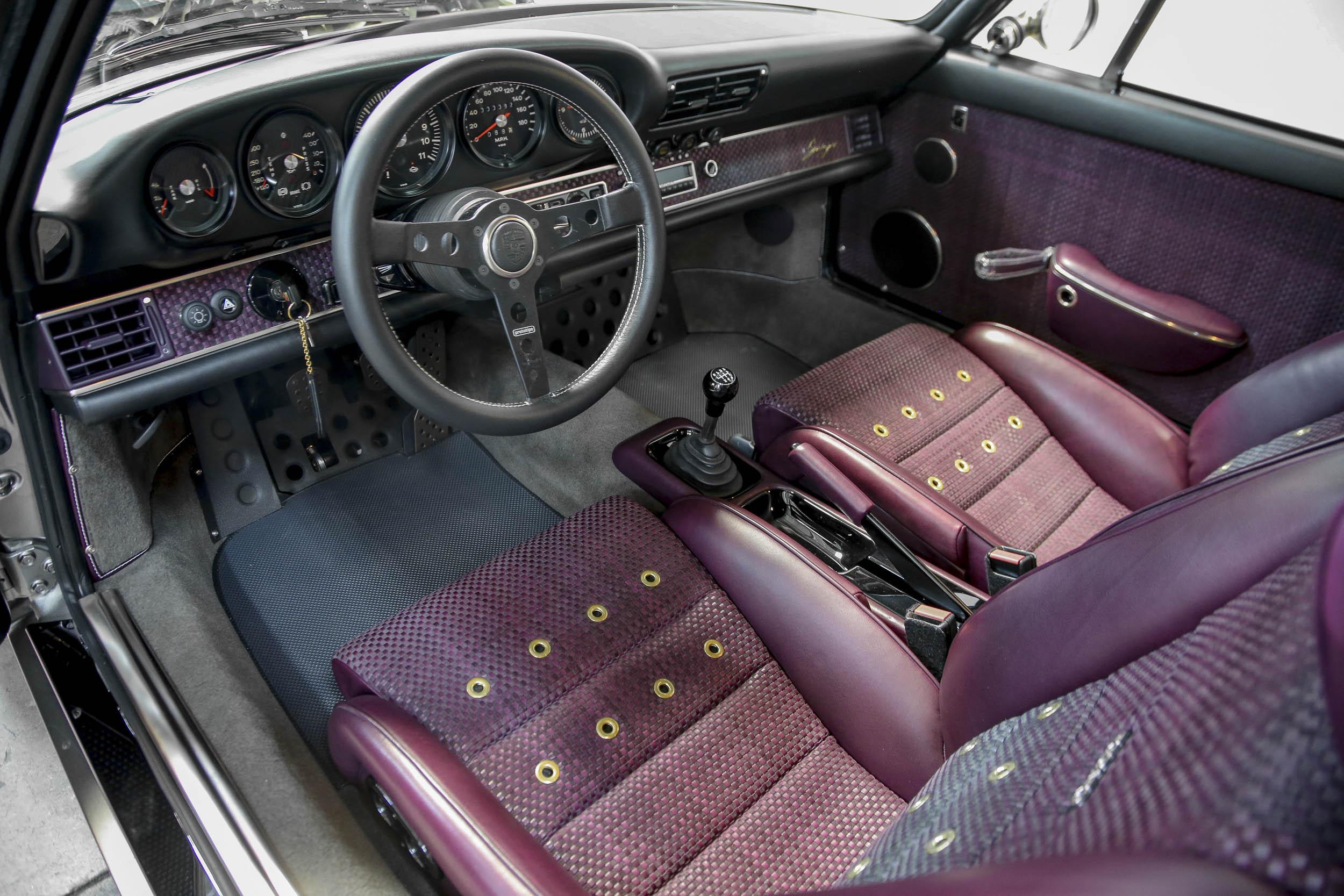 Singer's 100th Porsche 911 restoration interior