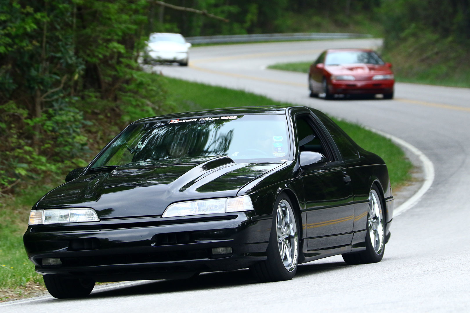 Kurt Kreisz drove his highly modified 1992 T-Bird SC on Tennessee's Tail of the Dragon, with his family aboard.