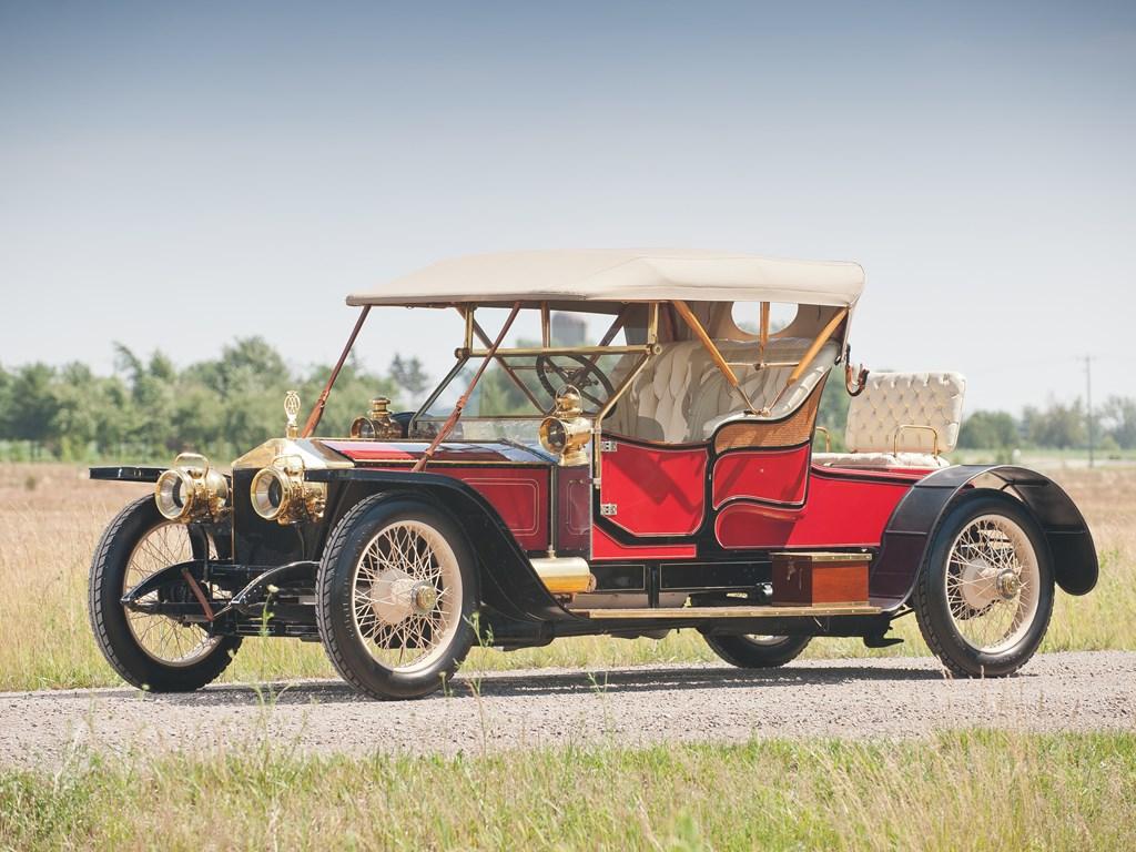 1910 rolls royce silver ghost balloon car