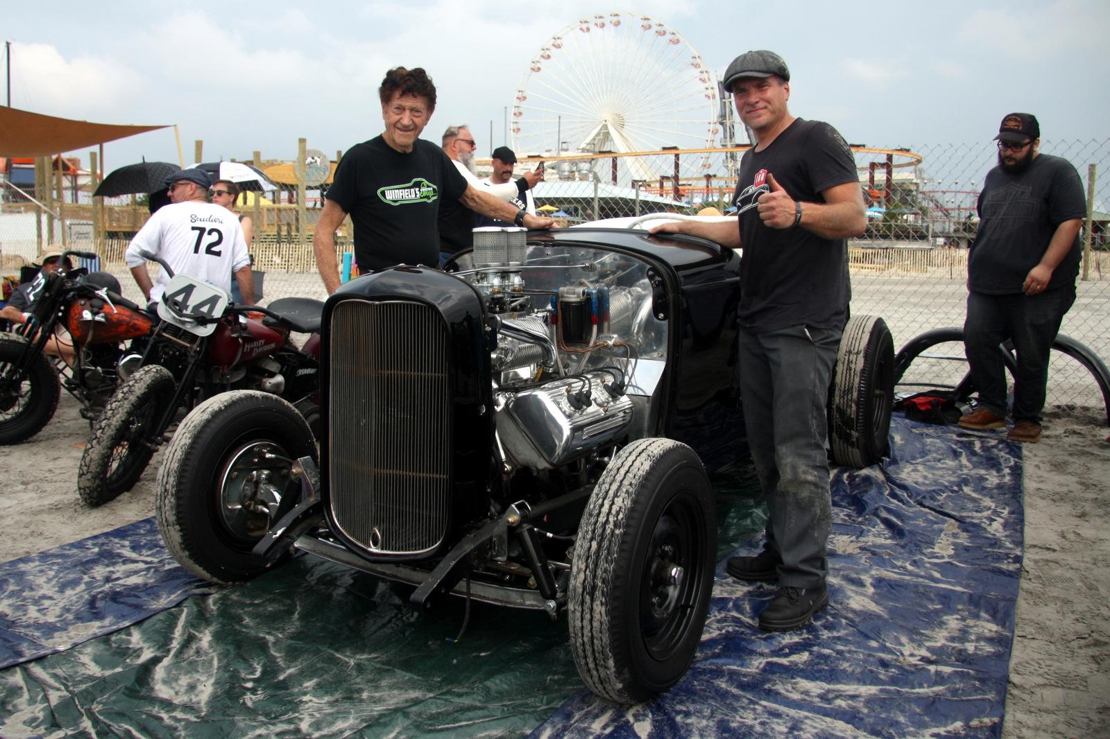 Gene Winfield, left and Rob Ida met at SEMA a few years ago and bonded over a custom '40 Mercury Ida had built.