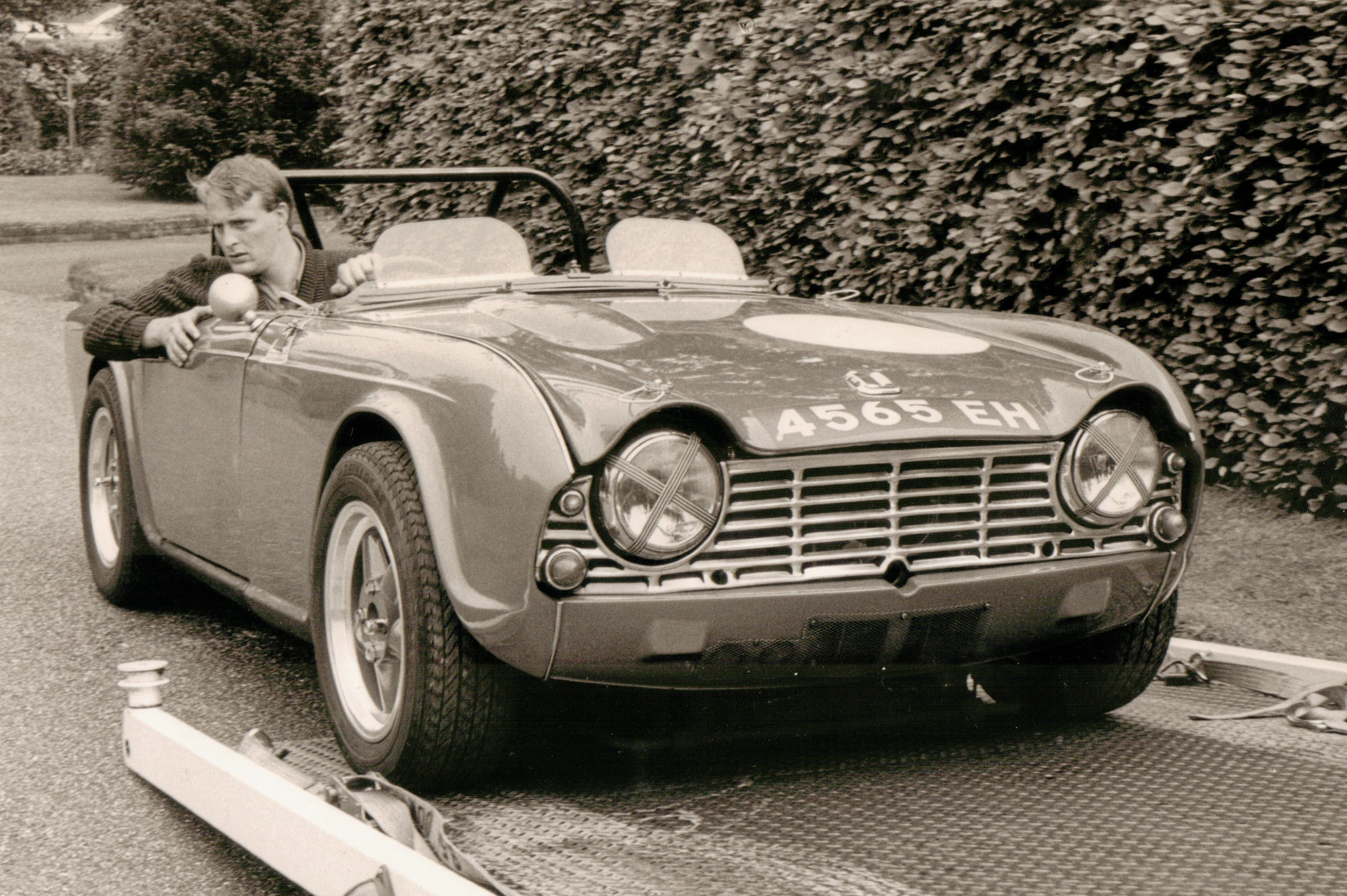 triumph tr4 commercial motor test andy english