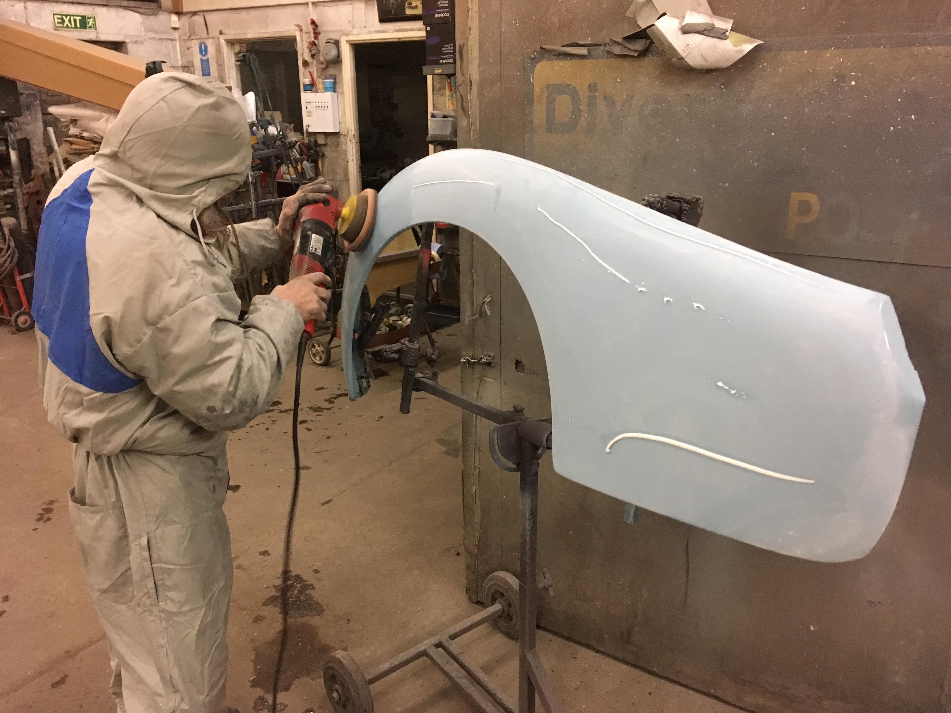triumph tr4 fender repair