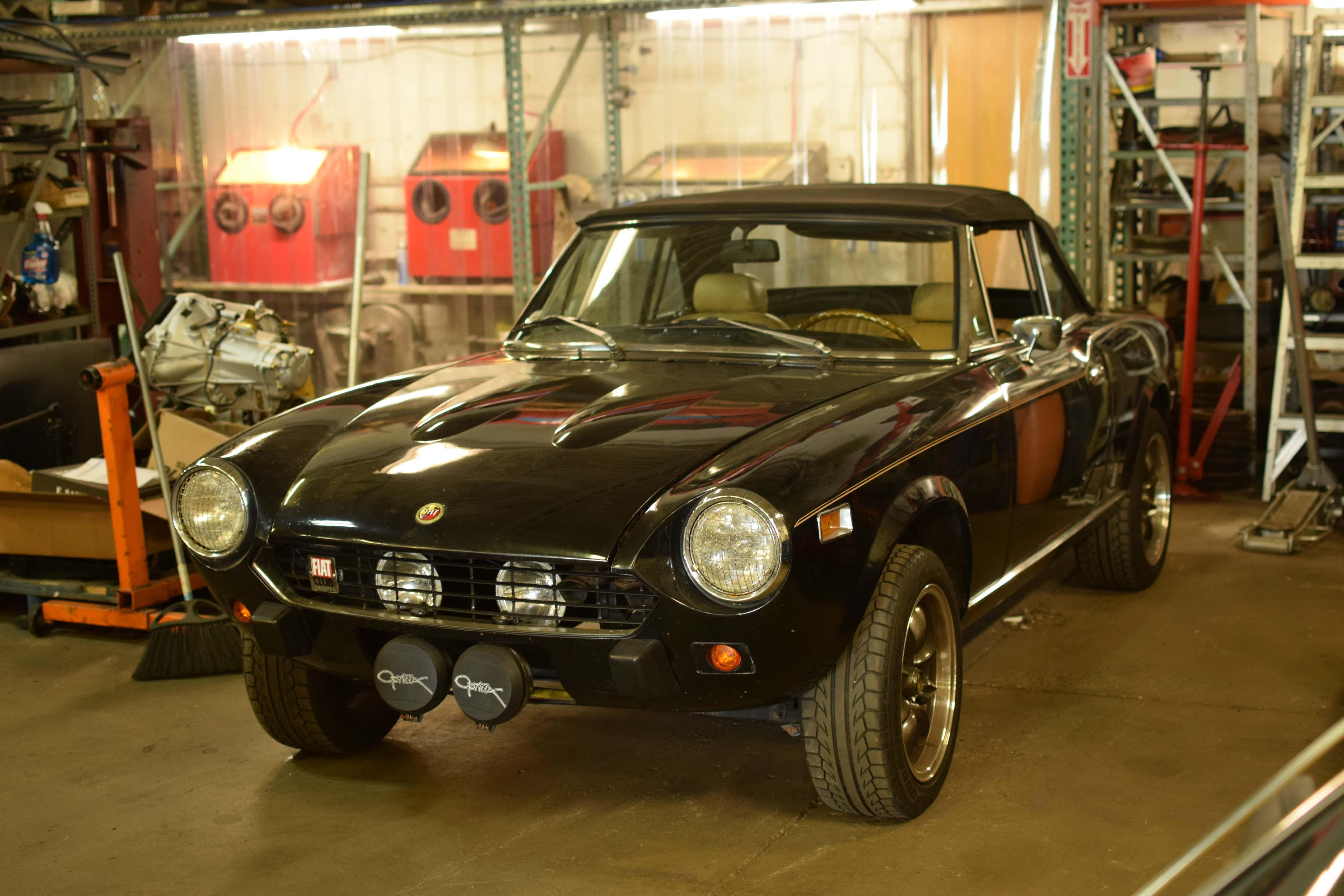 classic Fiat at x19 shop