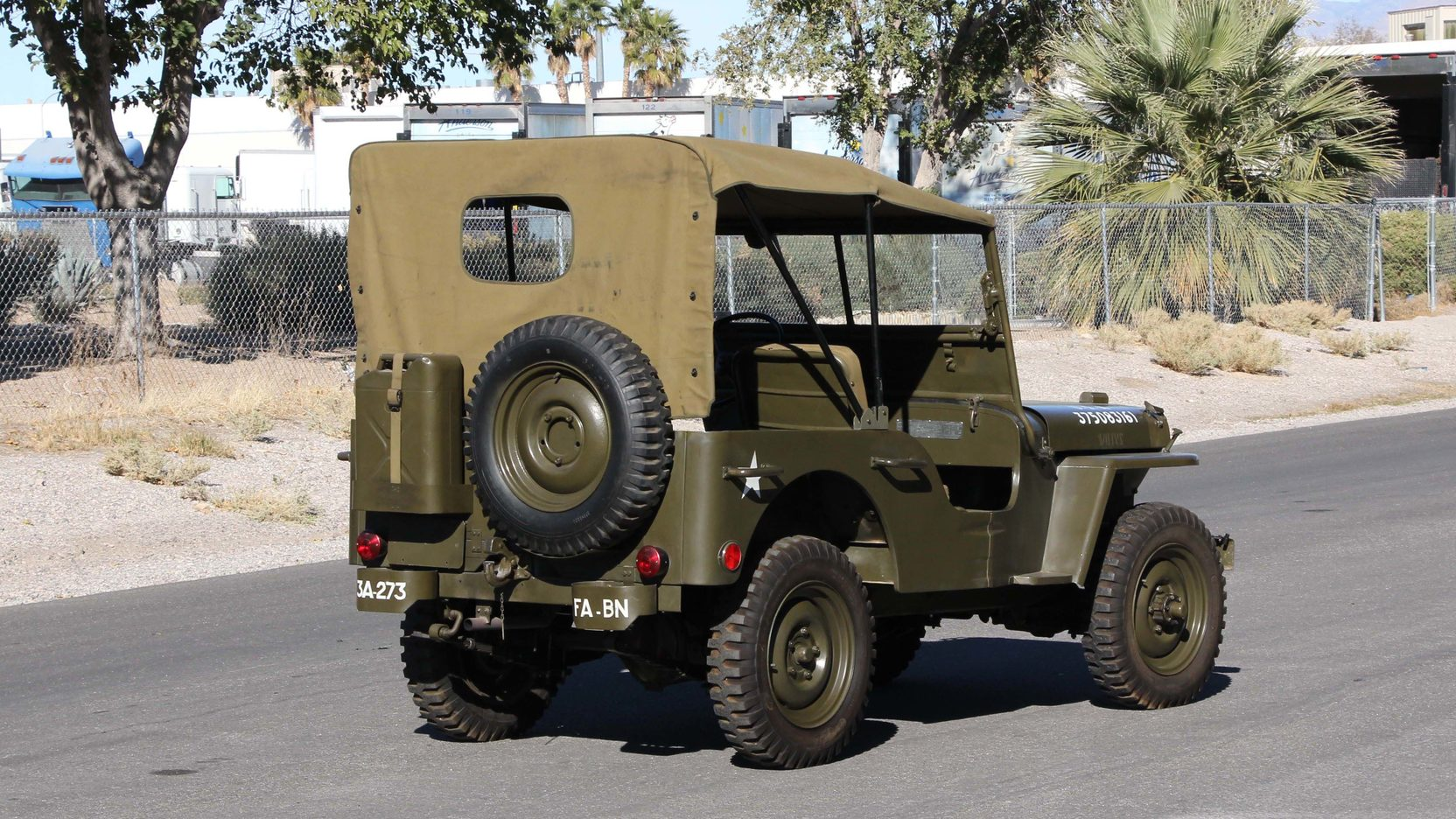 1948 Willys Military Jeep Rear 3/4