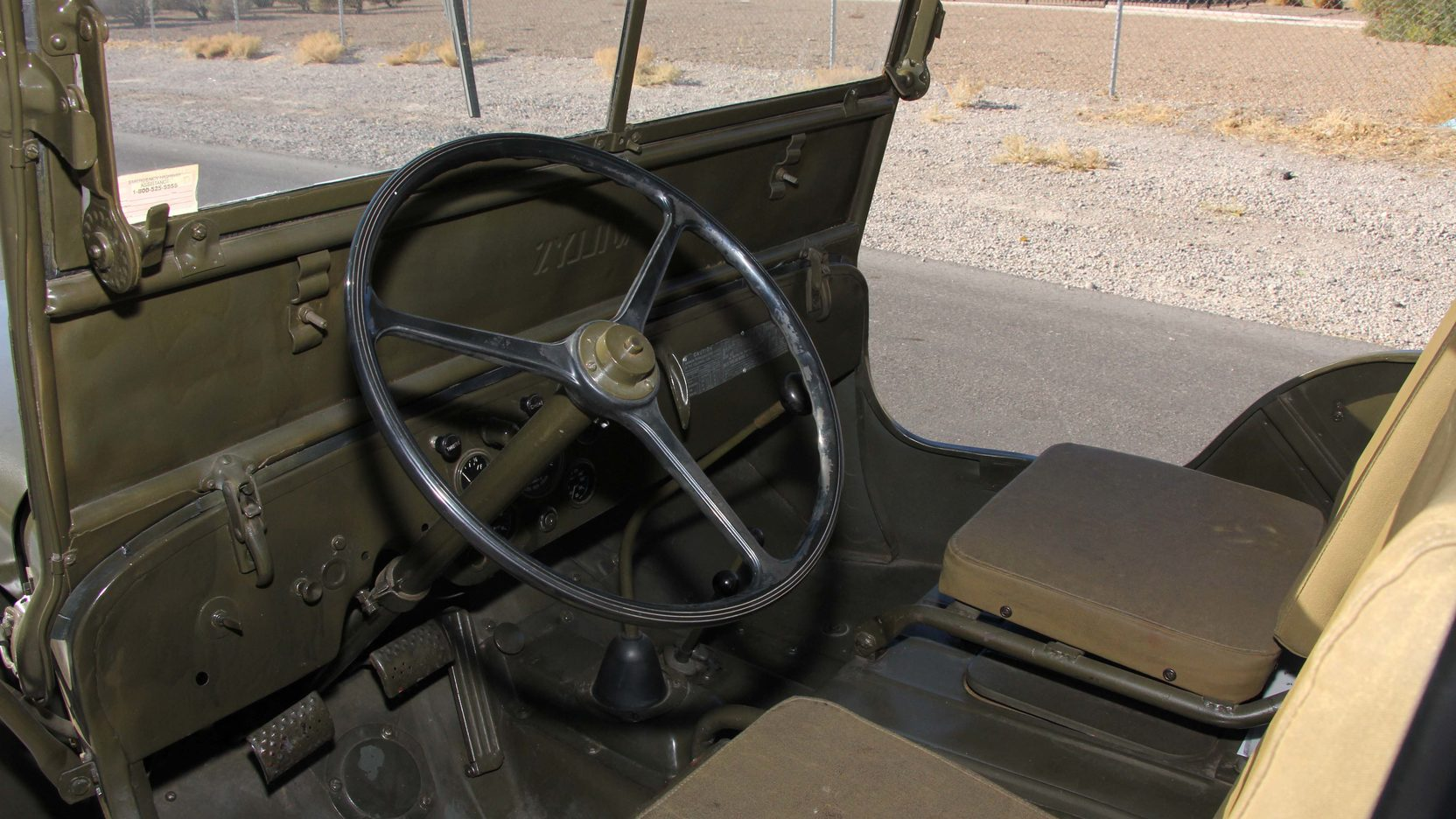1948 Willys Military Jeep interior