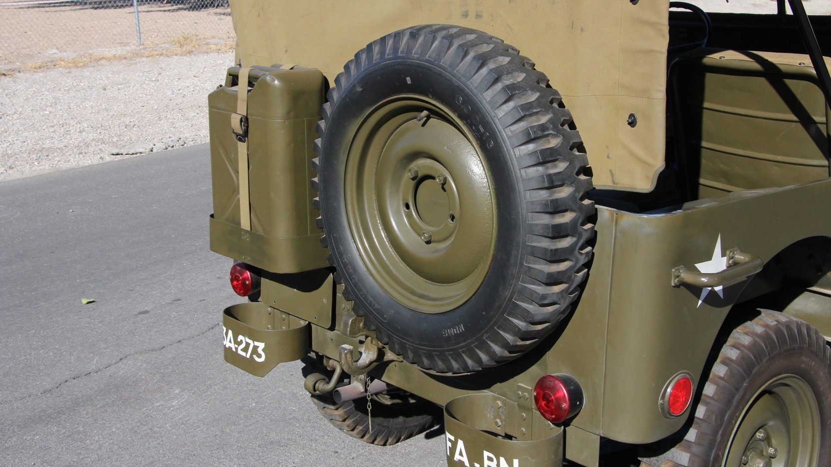 1948 Willys Military Jeep spare tire