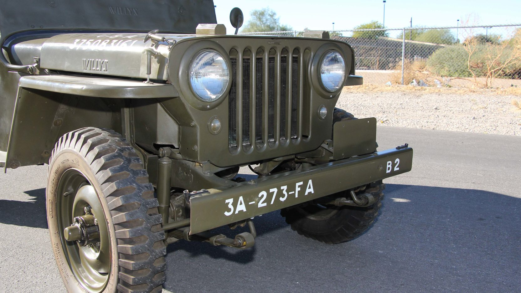 1948 Willys Military Jeep Grill