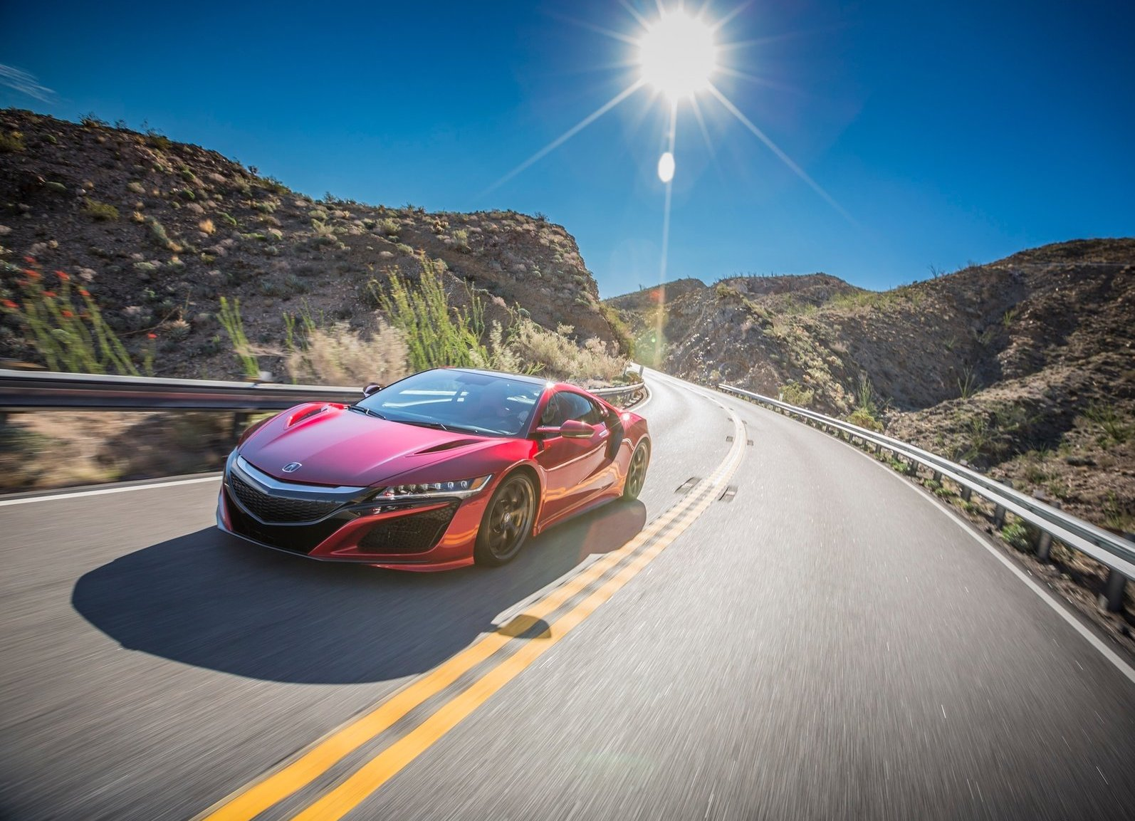 2017 Acura NSX on road red