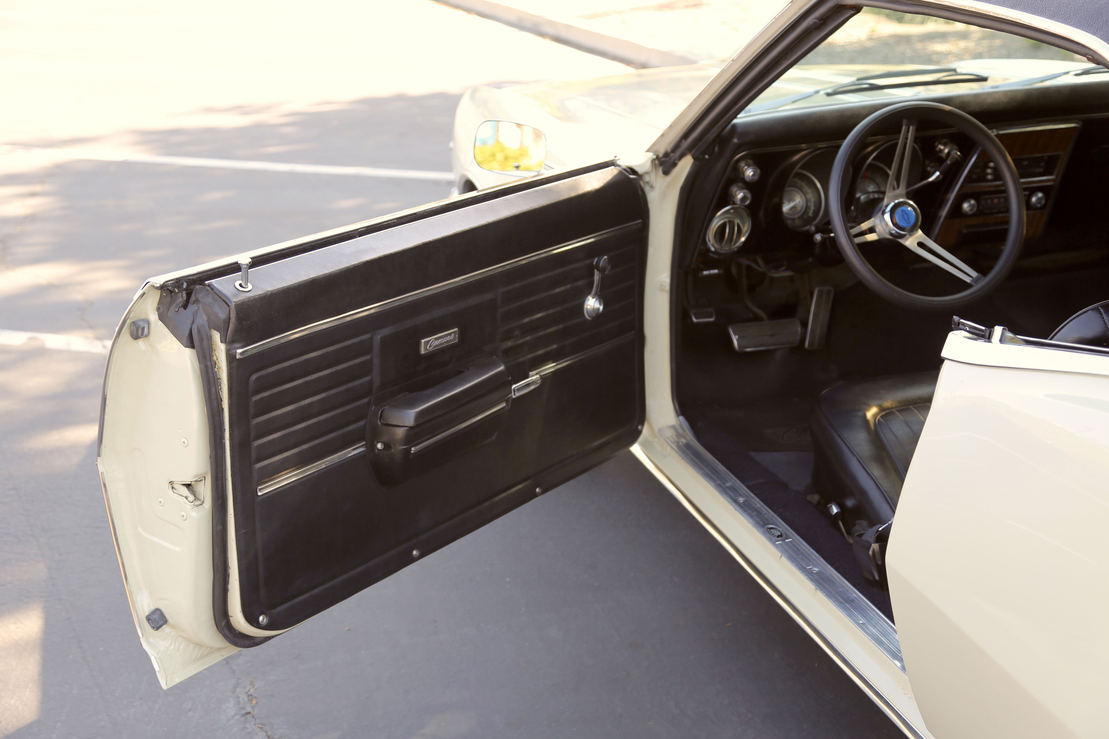 Having been garaged all of its life, the padded dash, door panels, and rear seat are all factory original. This was the 102nd 1968 Camaro built, which places it on the factory assembly line the first day of 1968 Camaro production at the Van Nuys GM plant.