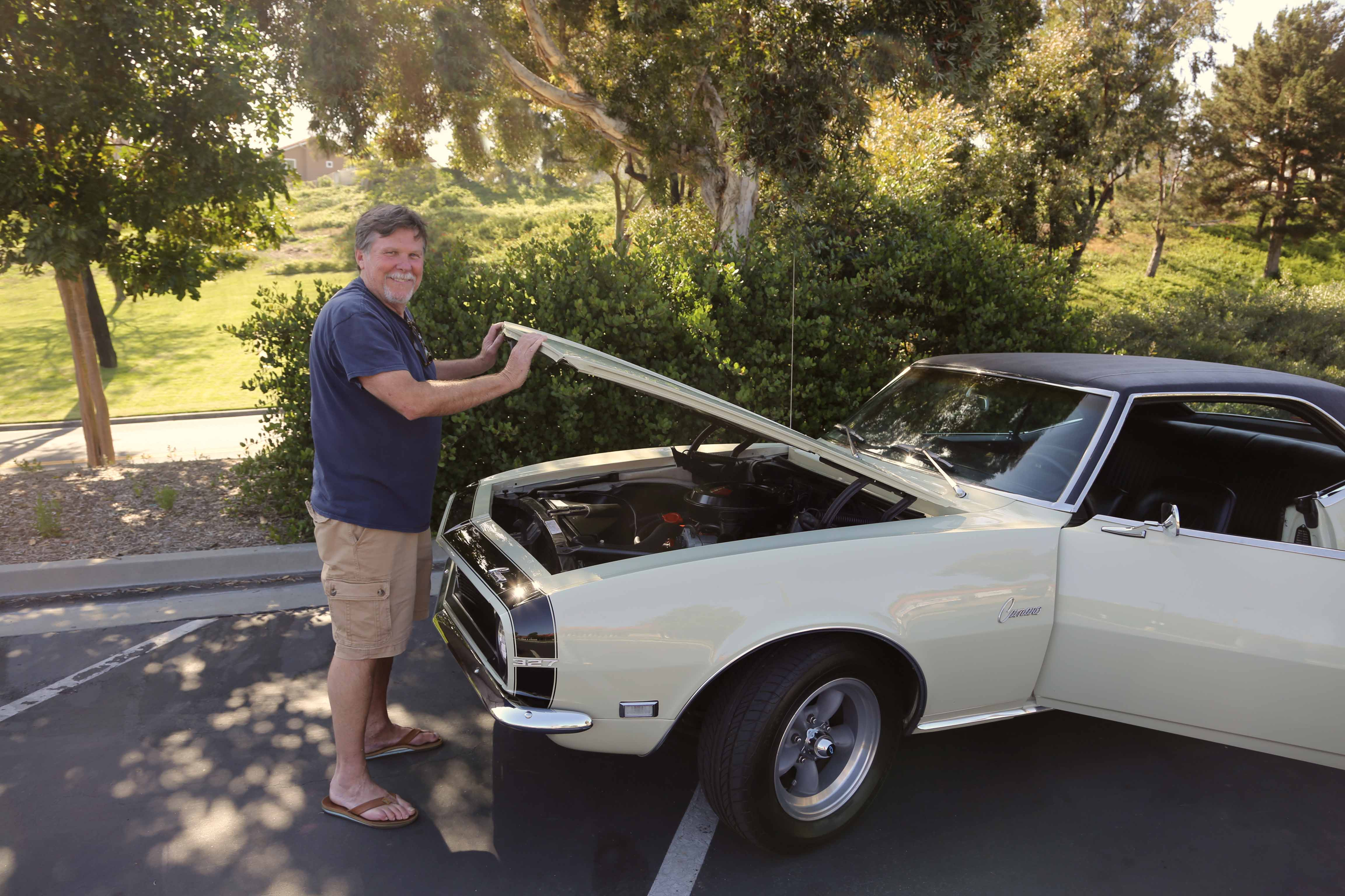 Norm says it runs too well to start messing with the 275hp, L30  small block, which spins a 2-speed Powerglide, the only automatic available for the 1968 model year.