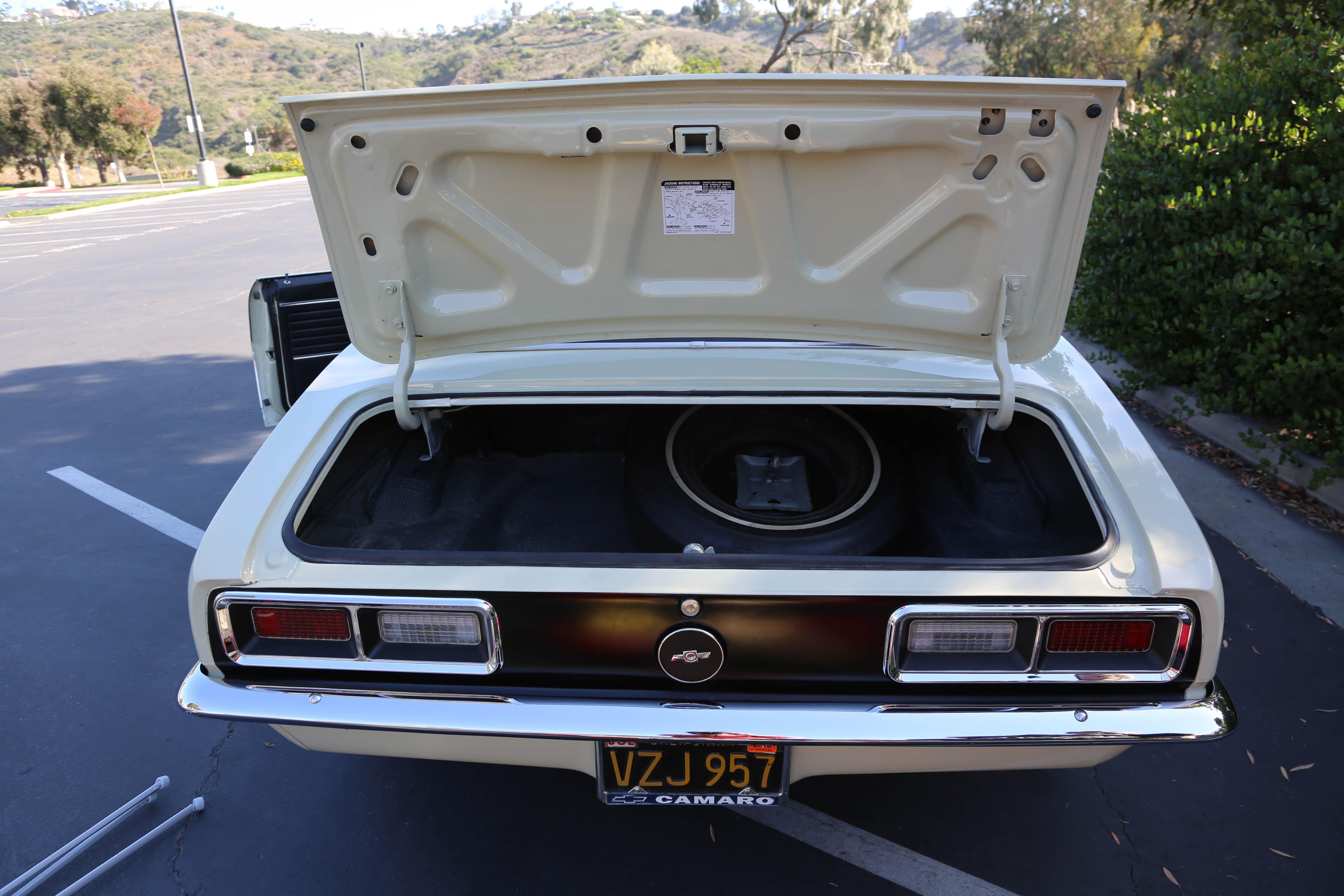 1968 Camaro Odd Options rear trunk