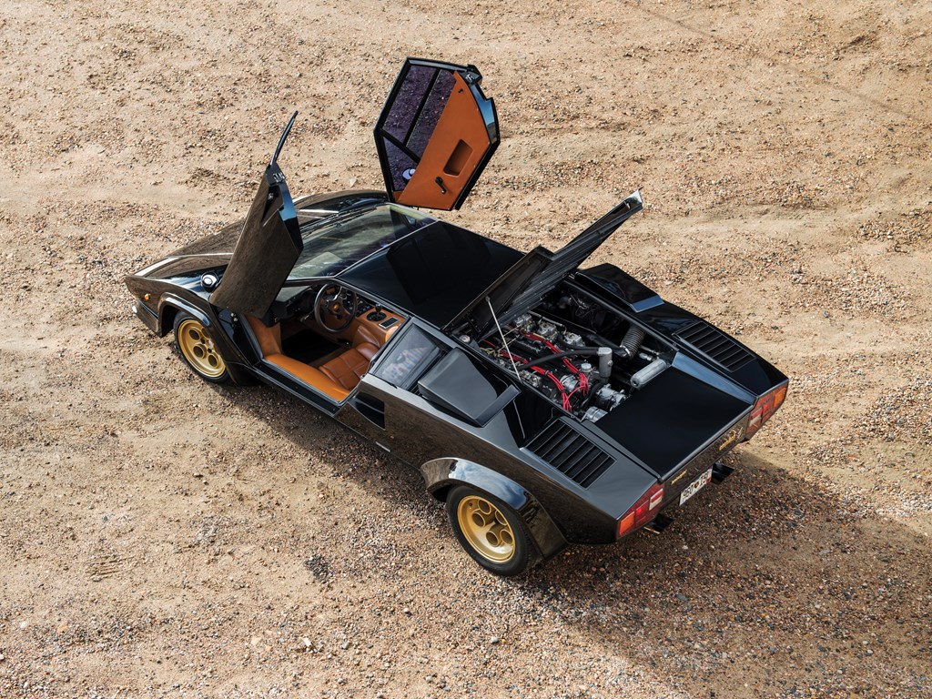 1979 Lamborghini Countach LP400 S Series I overhead doors open