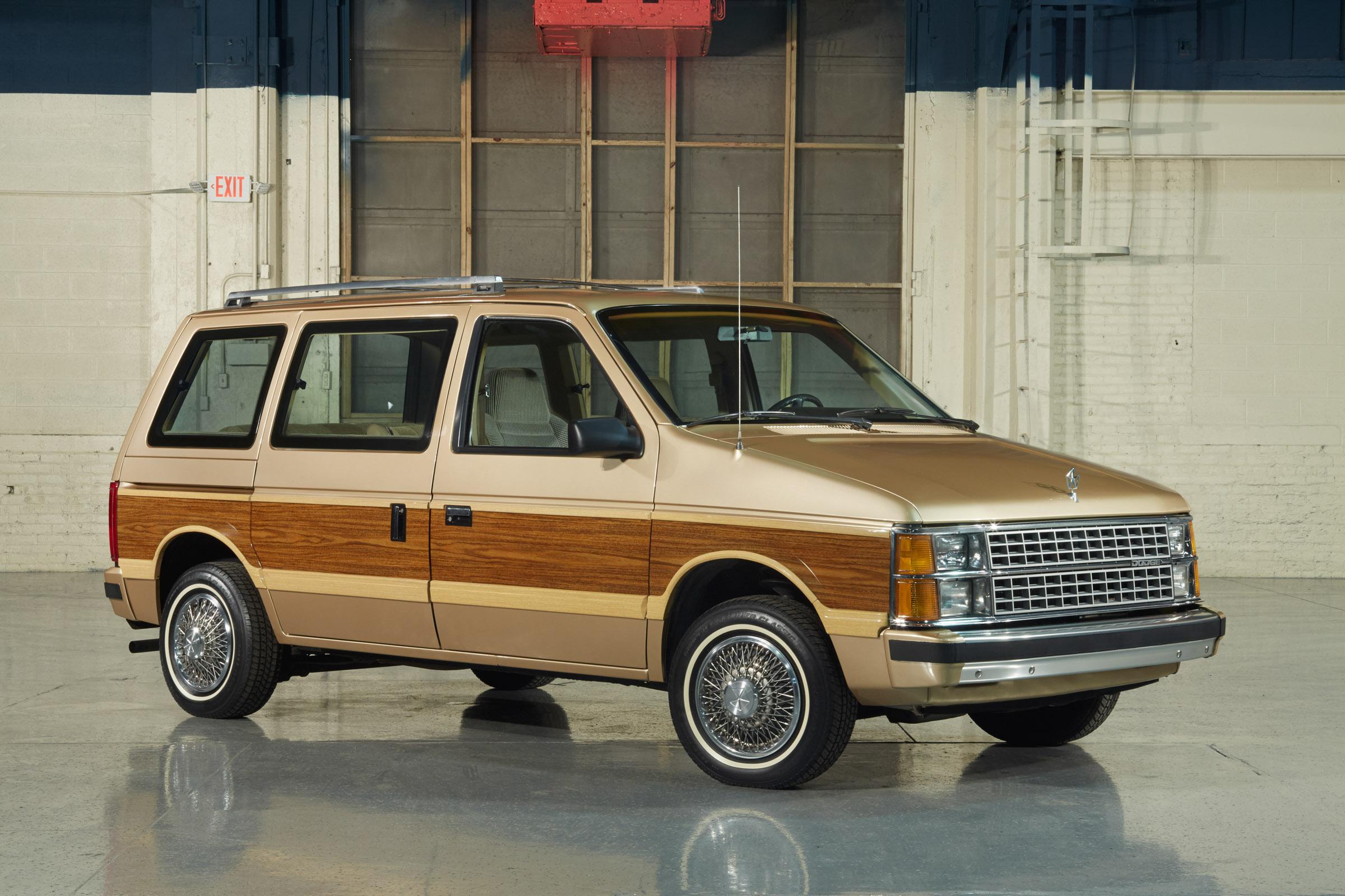 1984 Dodge Caravan front 3/4