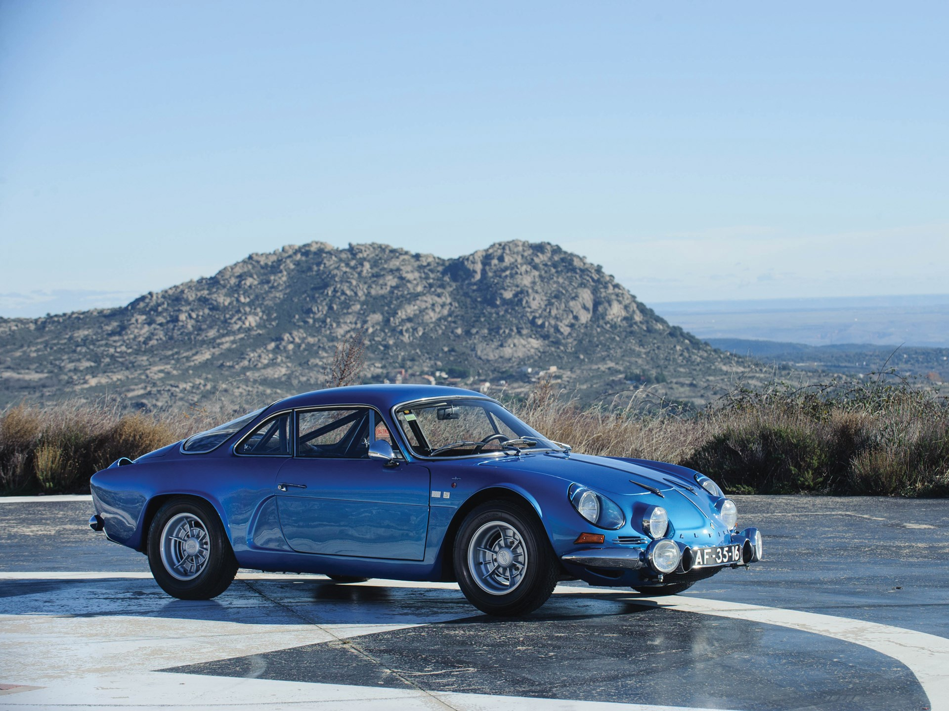 1973 Renault Alpine A110 front 3/4 mountain