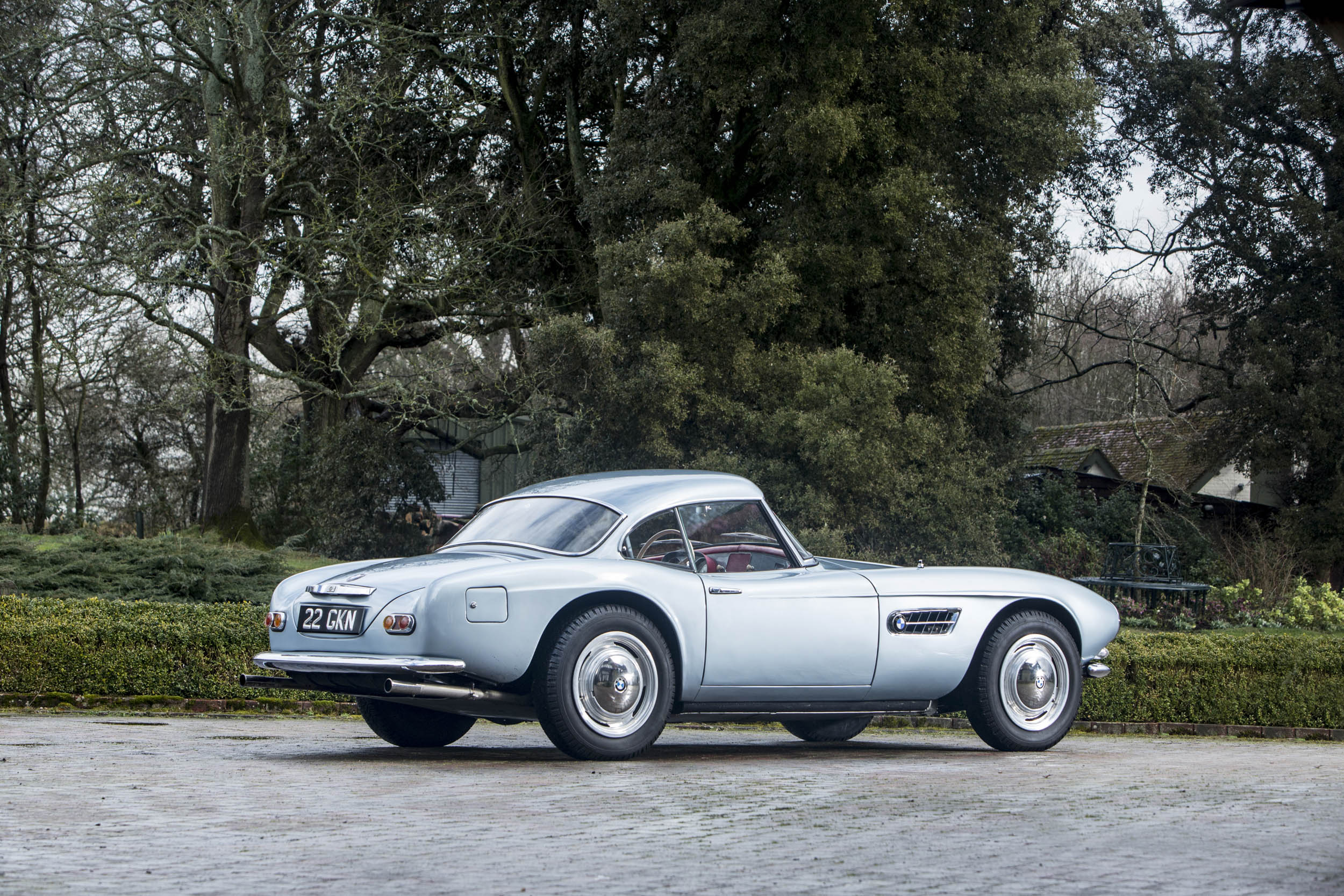 John Surtees' 1957 BMW 507 rear 3/4