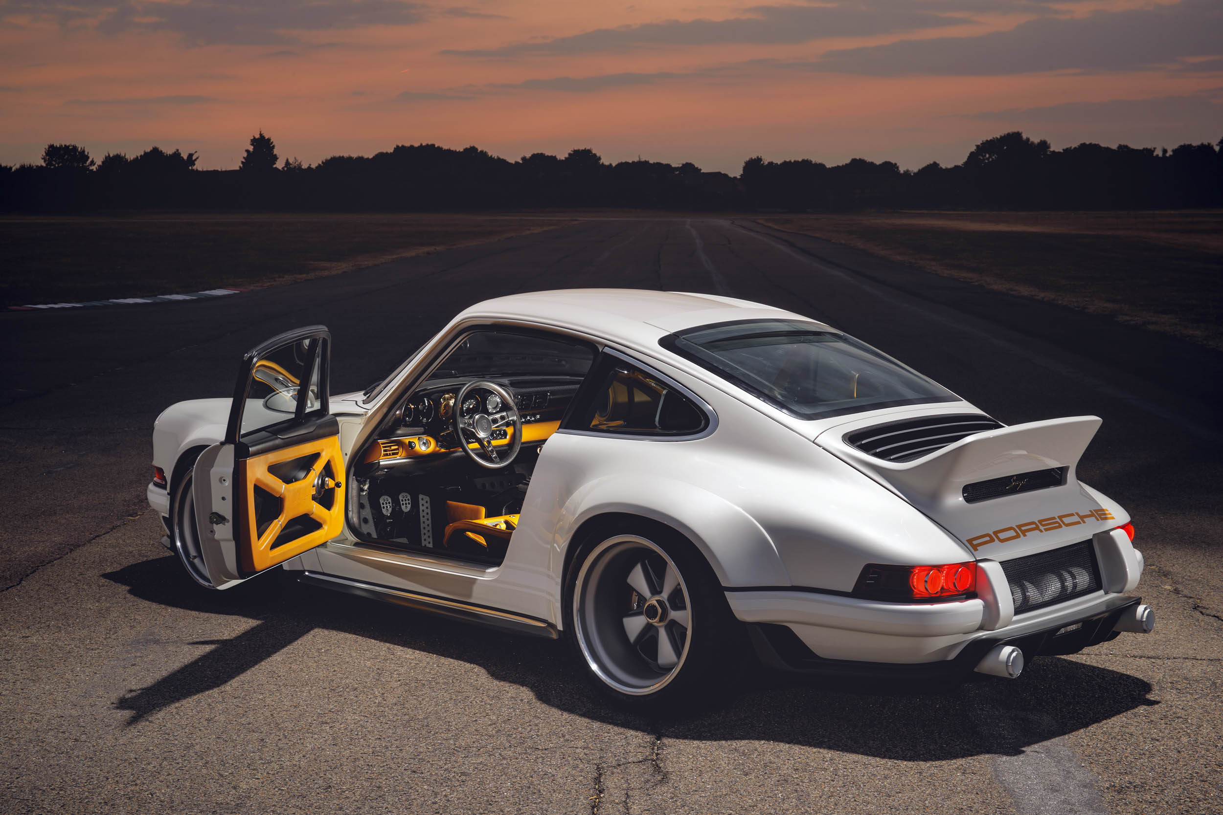 1990 Porsche 911 (964), reimagined by Singer rear 3/4