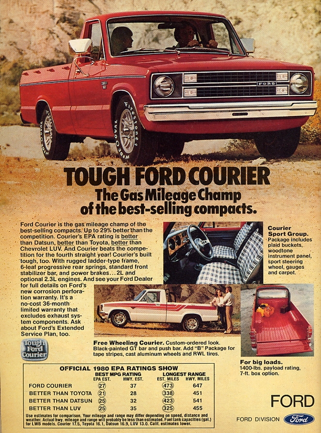 Ford Courier pickup ad