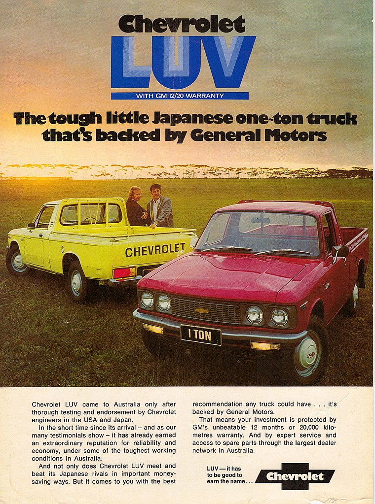 Chevrolet LUV Pickup Truck Ad red yellow
