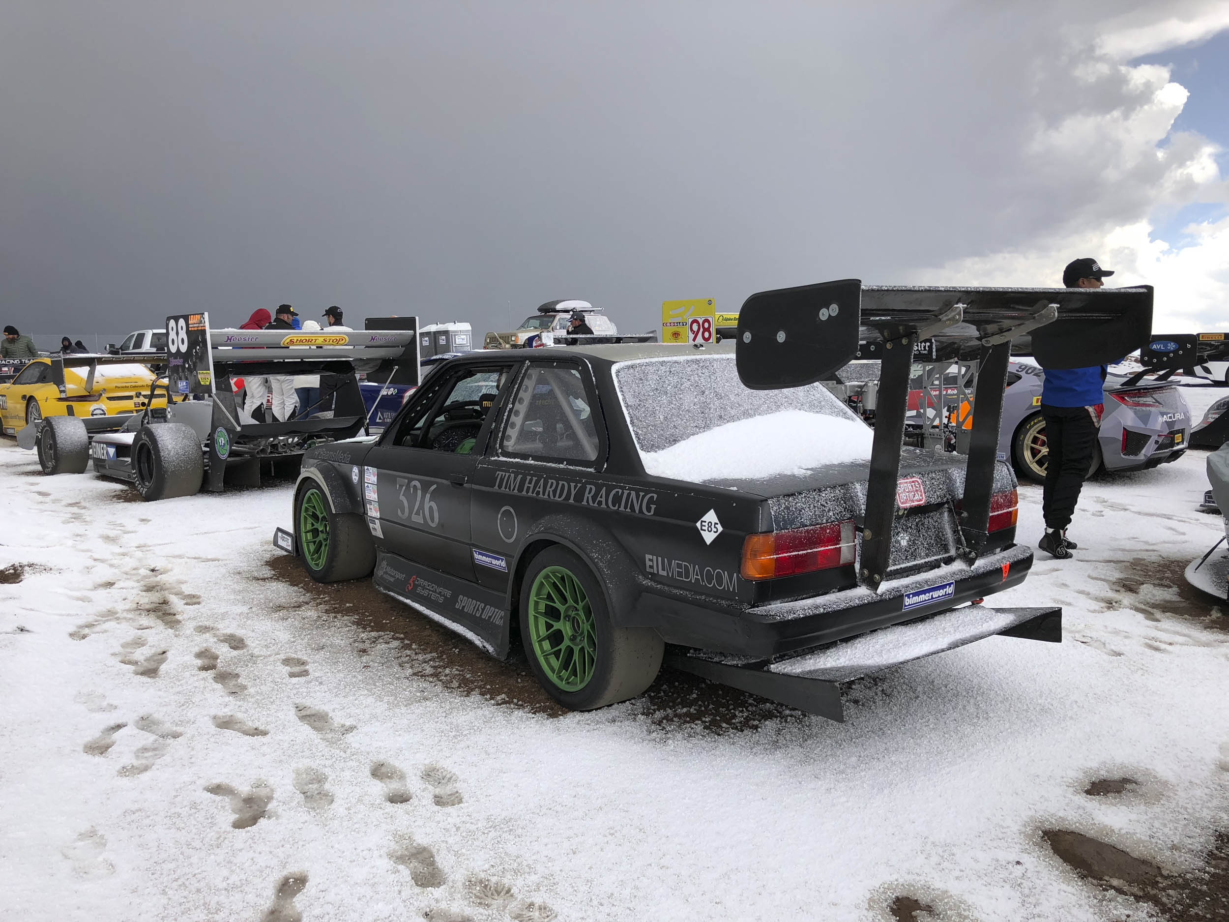 Snow at the top of Pikes Peak