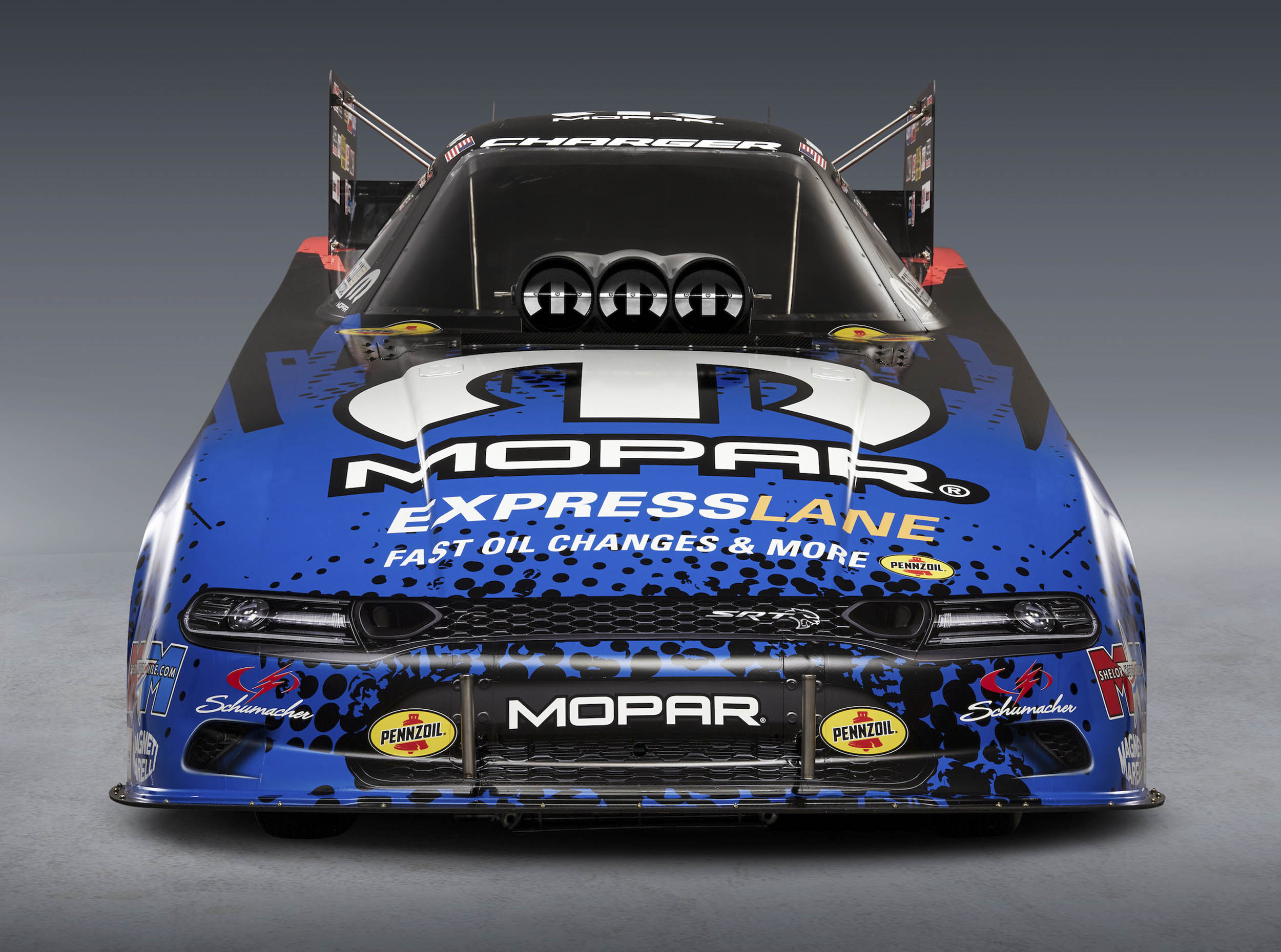 Dodge Charger Hellcat Funny Car front