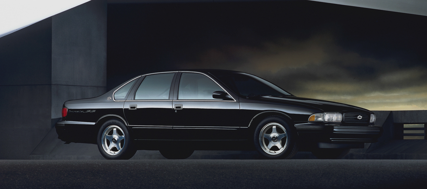 90s classic. The 1995 Chevrolet Impala SS Sedan was factory-equipped with a 260-hp horsepower LT1 V-8, cupholders, column-shift automatic, and driver and passenger airbags.