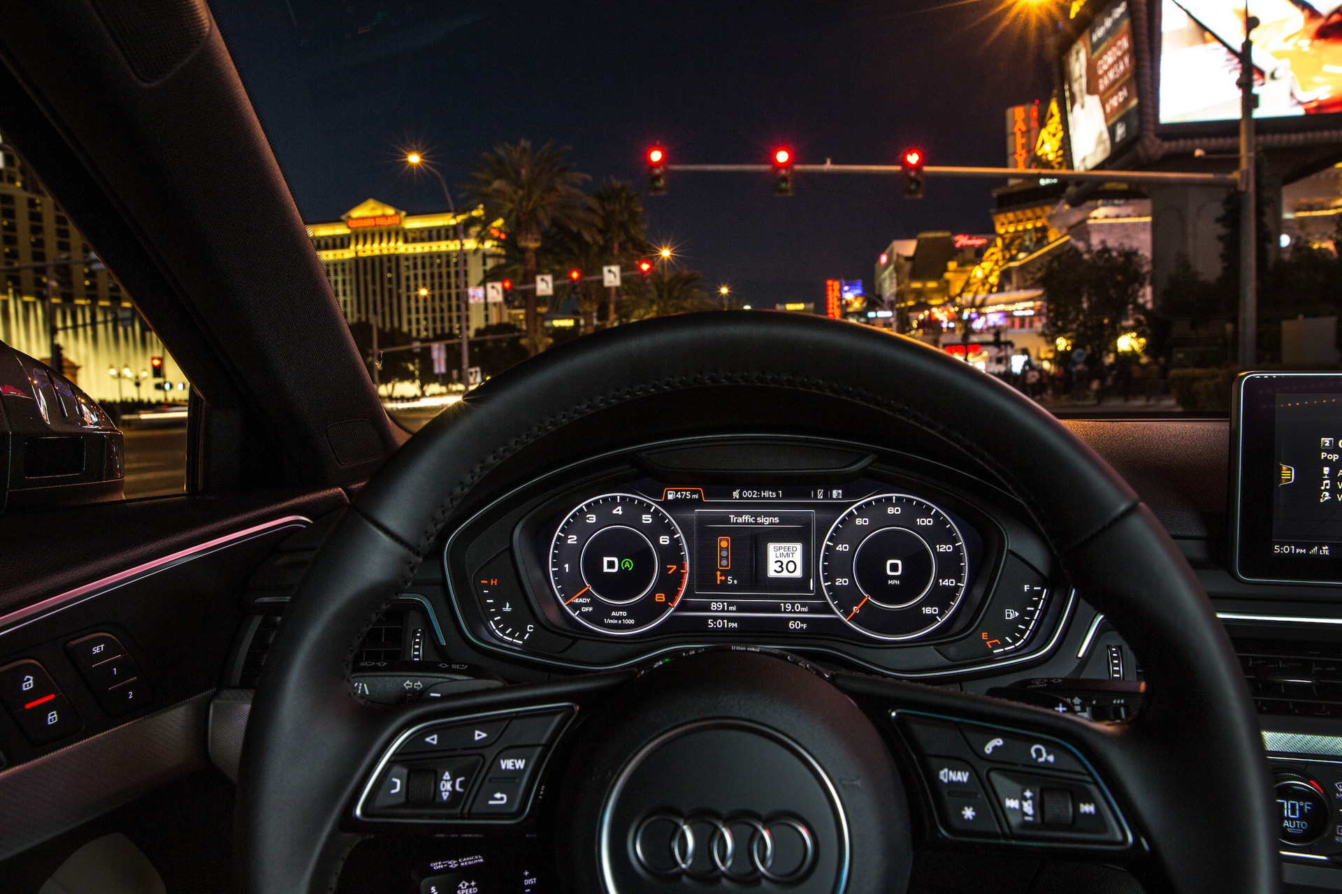 Audi's Traffic Light Information system link cars and infrastructure.