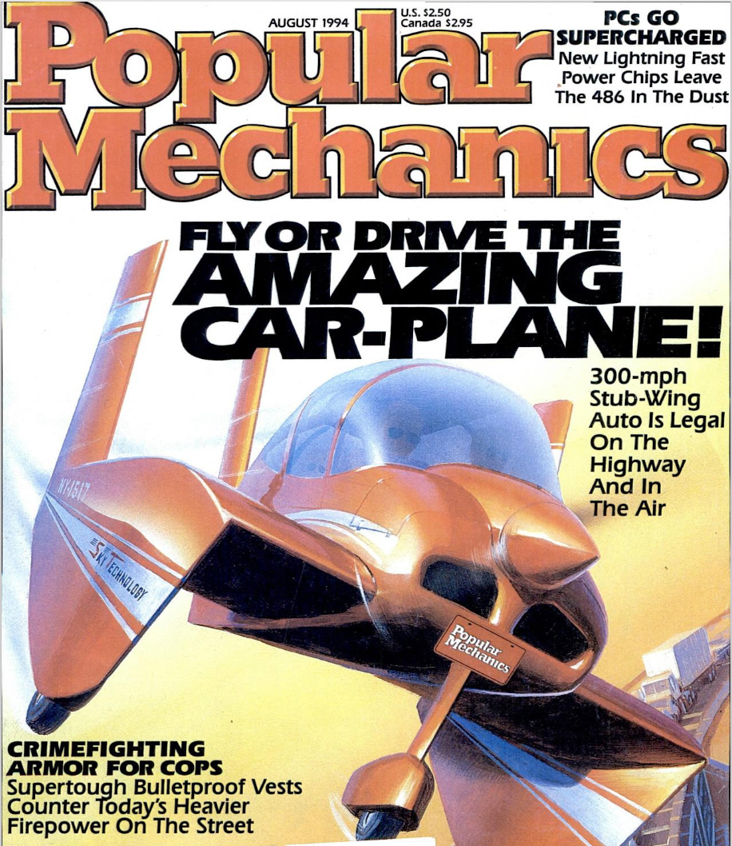 The Flying Car, as envisioned in 1994 here, has yet to arrive after decades of predictions.