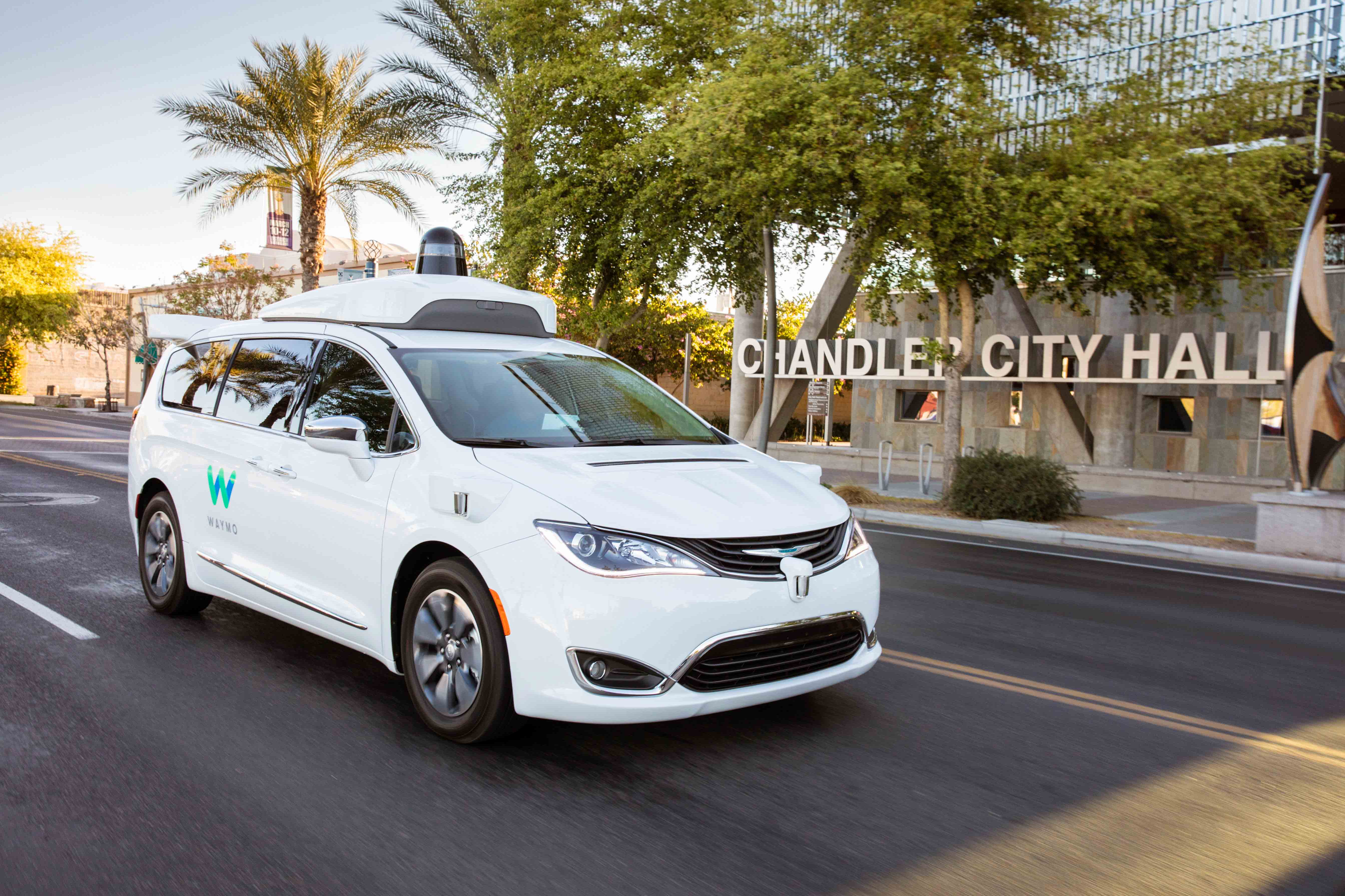 A Chrysler Pacifica operated by Google's Waymo.