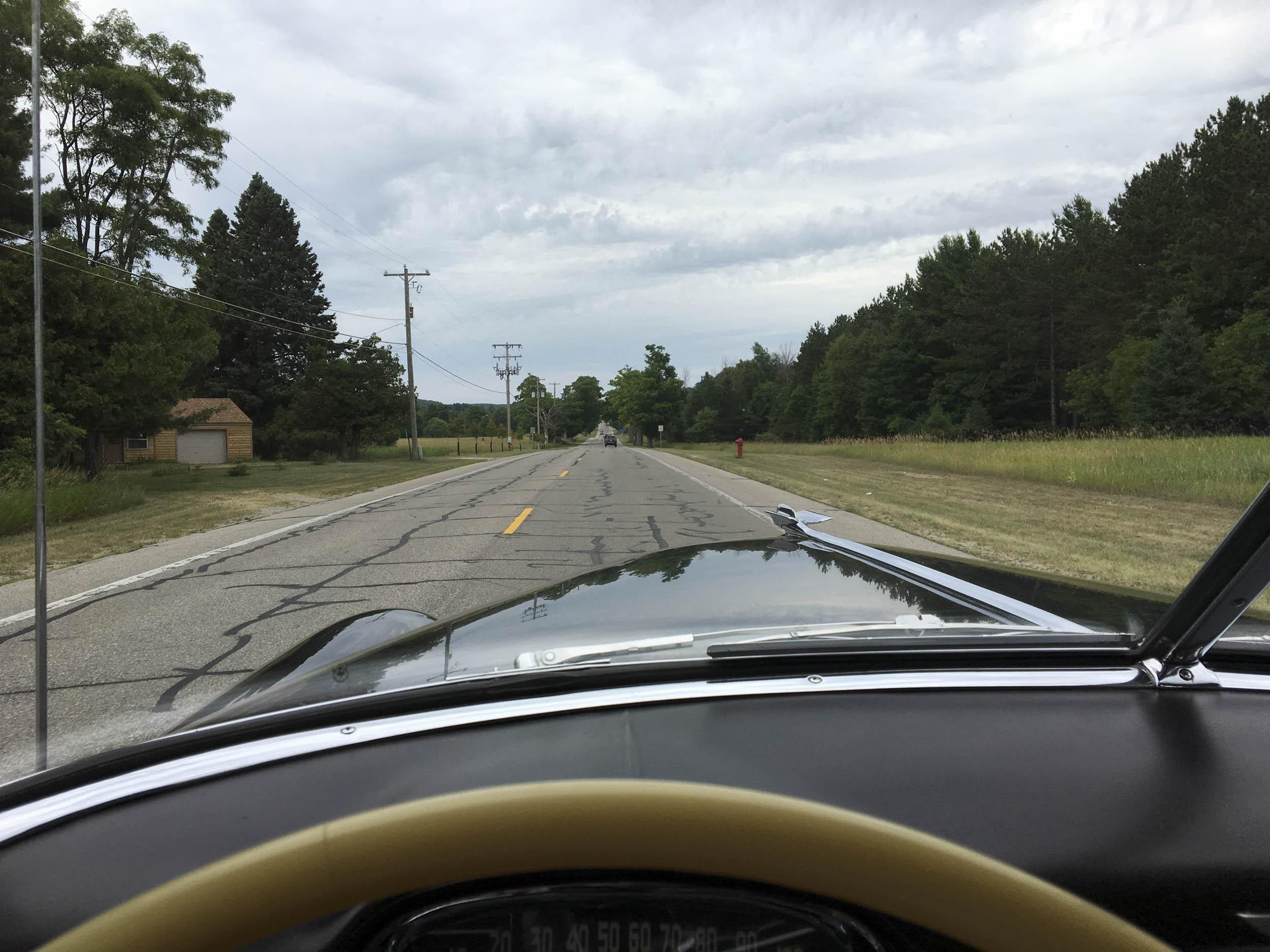 driving 1949 cadillac