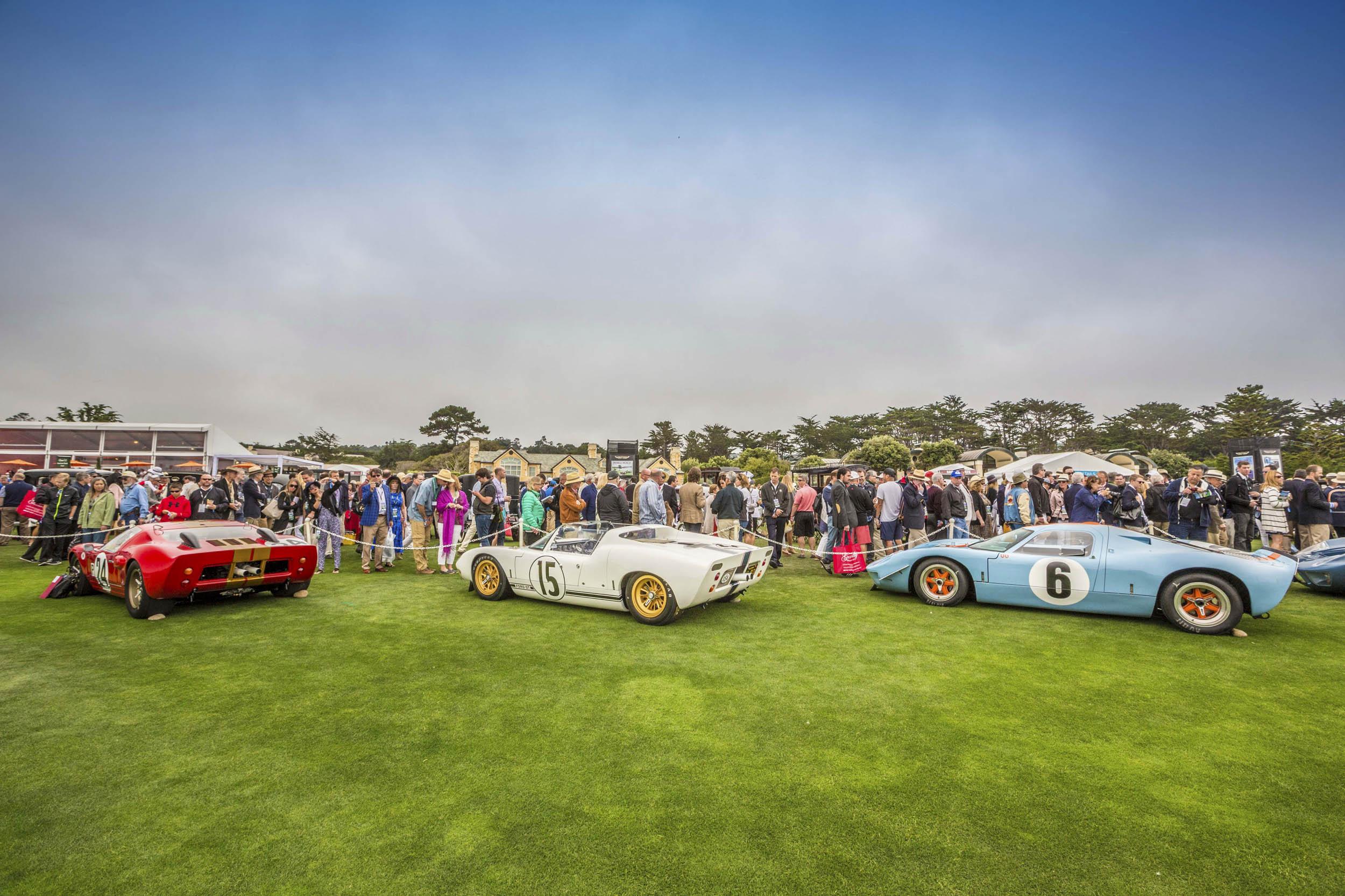 Pebble Beach Concours d'Elegance racing display