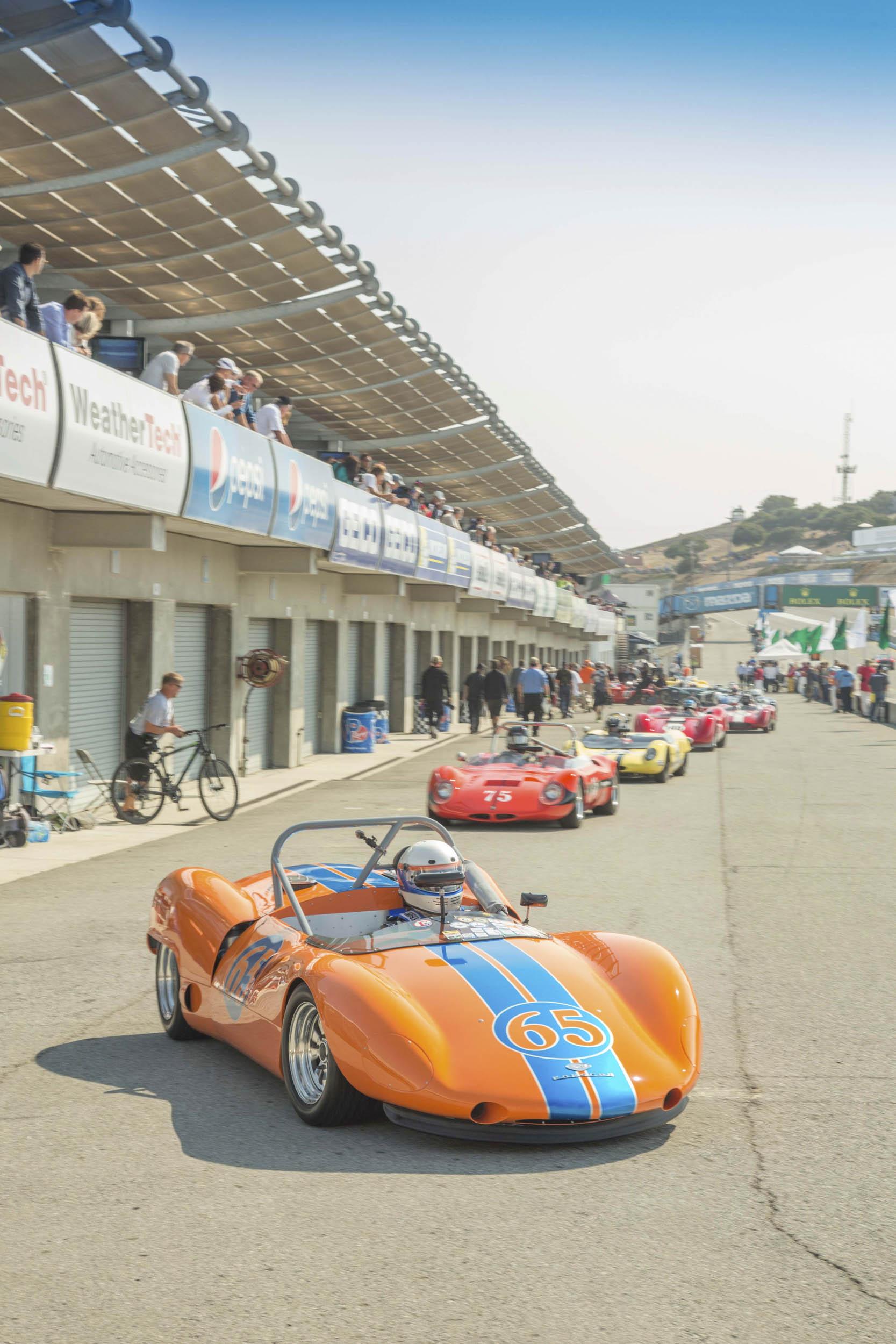 Rolex Monterey Motorsports Reunion at WeatherTech Raceway Laguna Seca paddock