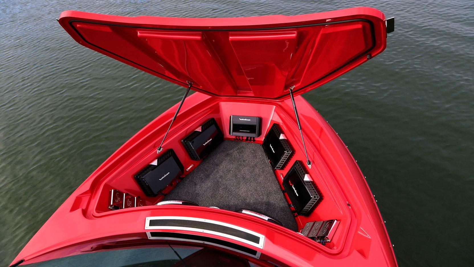 2008 Malibu Corvette Z06 font hatch stereo speakers