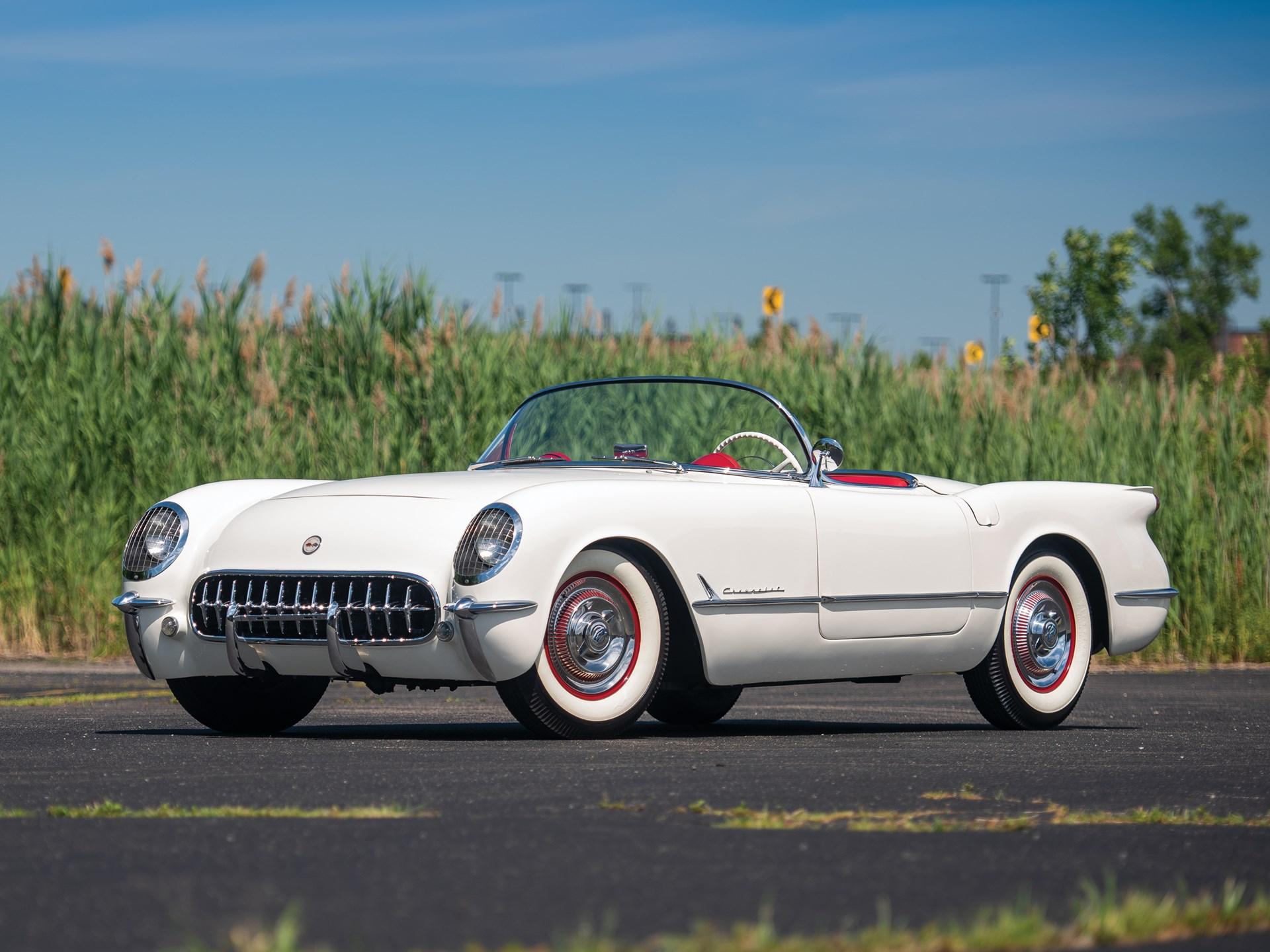 1953 Corvette Roadster front 3/4 driver white