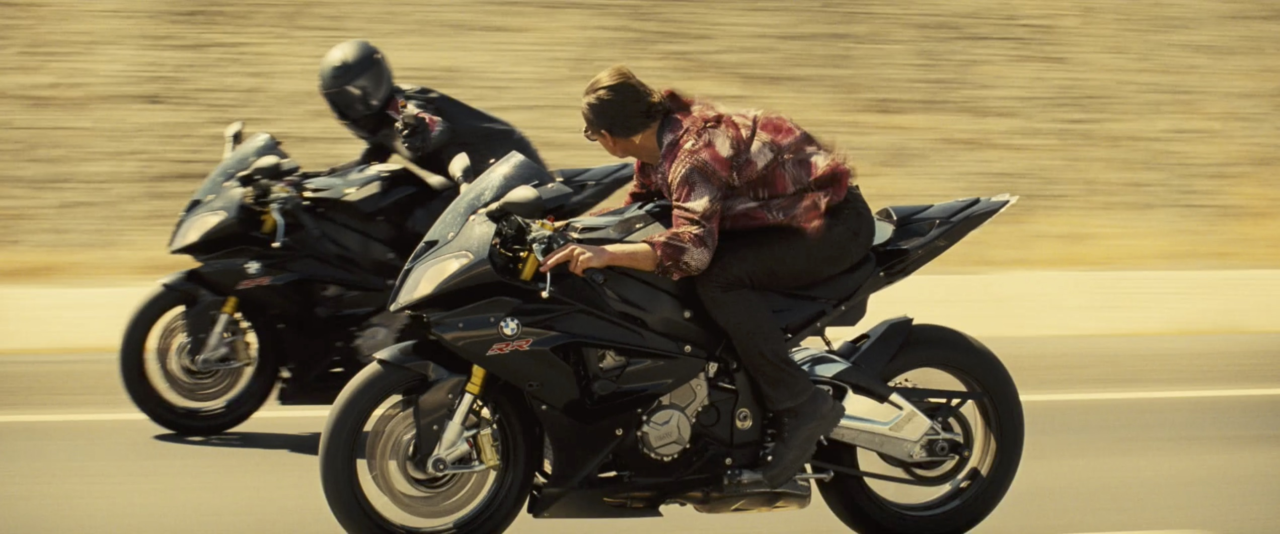 Mission Impossible: Rogue Nation motorcycle racing