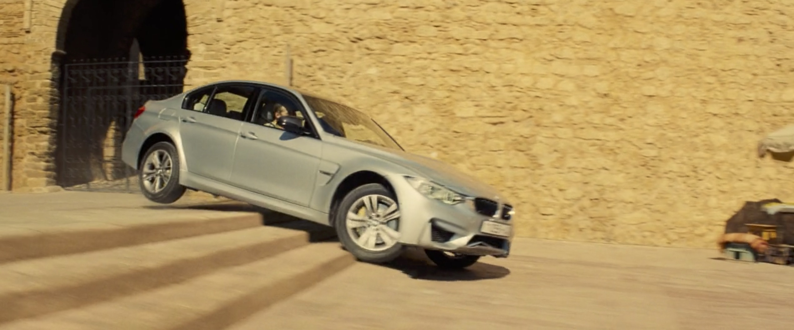 Mission Impossible: Rogue Nation bmw on stairs