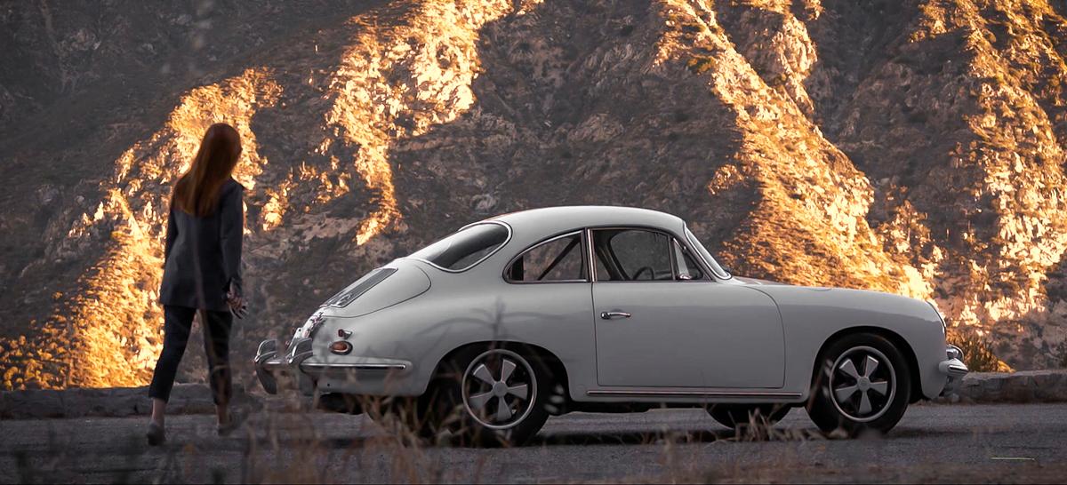 1964 Porsche 356 in the mountains
