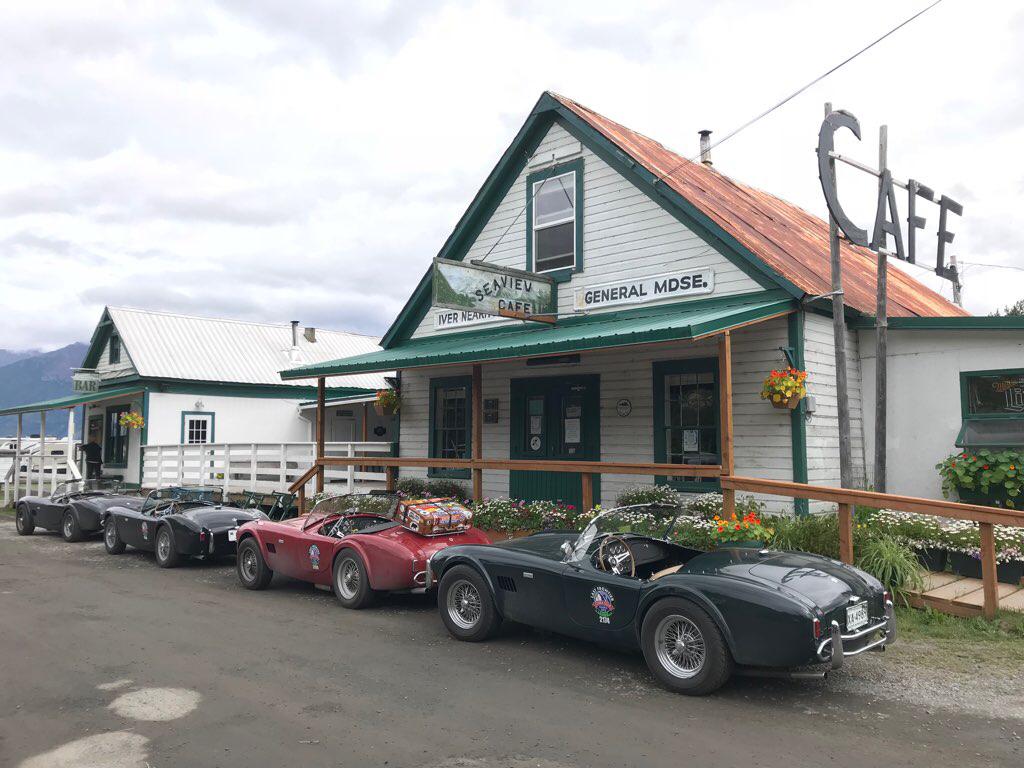 seaview cafe 1965 shelby cobra alaska road trip