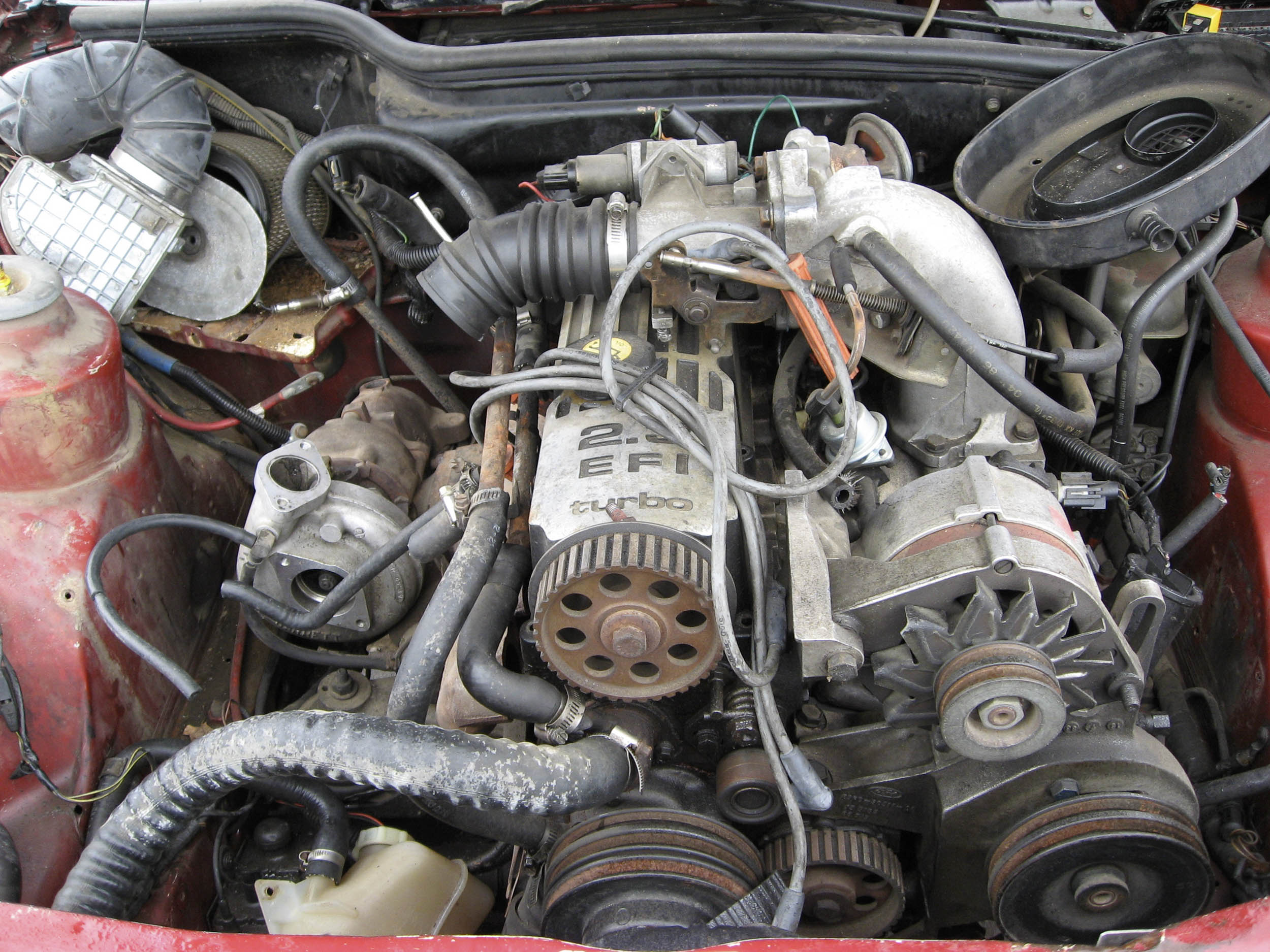 This 2.3-liter turbo had done its best but ended up in a boneyard Merkur XR4Ti.