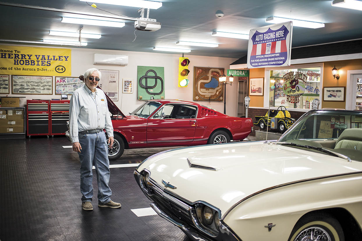 Bob Beers built not only his dream garage but also his ideal hobby shop, where cars of all sizes complement one another.
