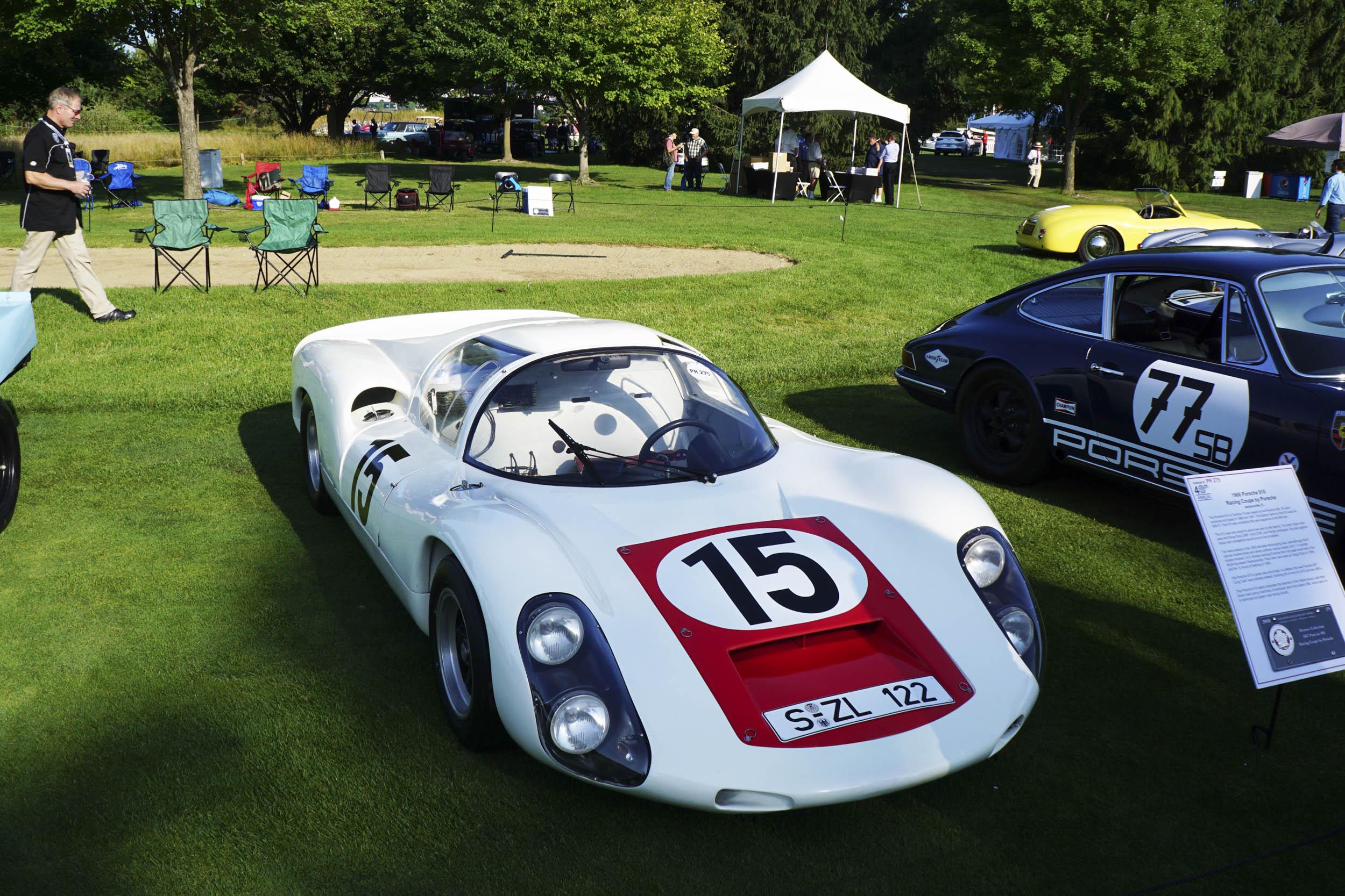 1966 Porsche 910 Racing coupe overhead