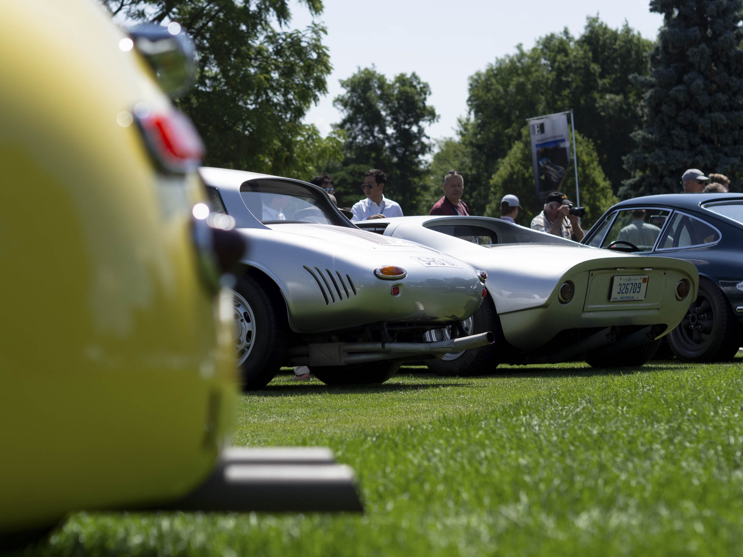 Porsches on display at the Concours of America