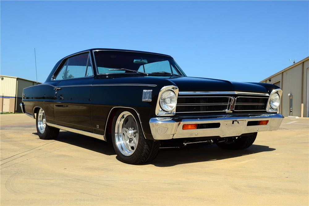 1966 Acadian Canso black front 3/4 low