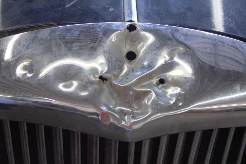 1958 Bentley Saddam Hussein bullets grill