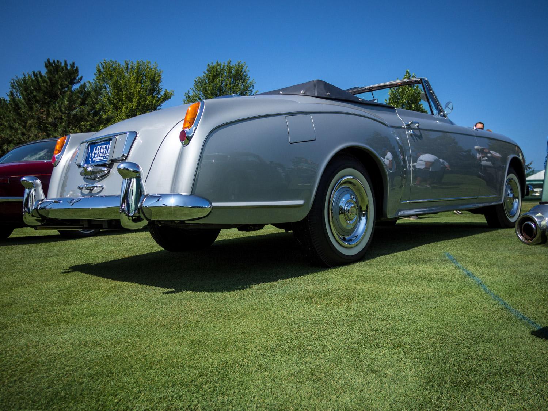 1958 Bentley Saddam Hussein bullets rear 3/4 grass
