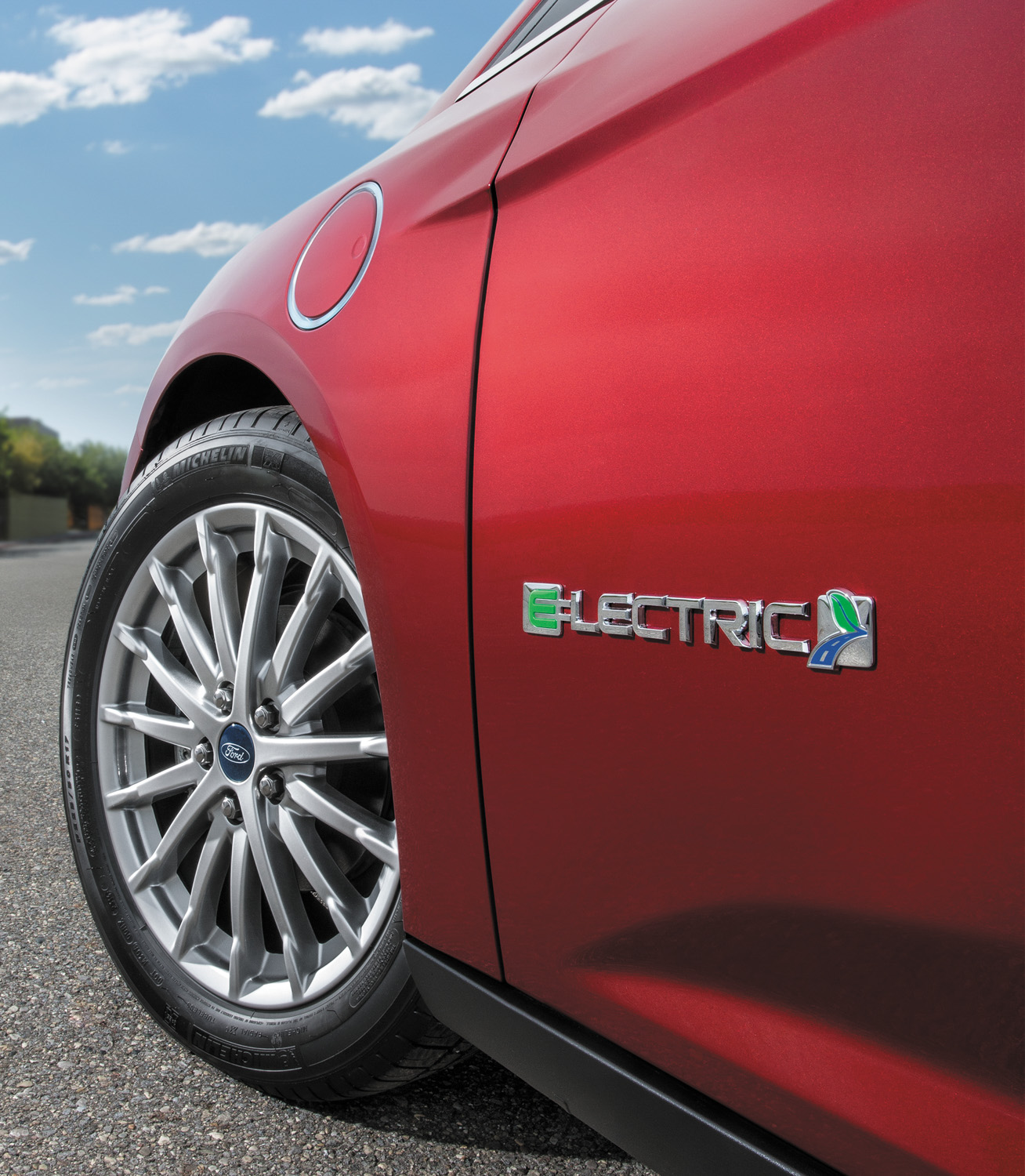 2017 Ford Focus Electric badge