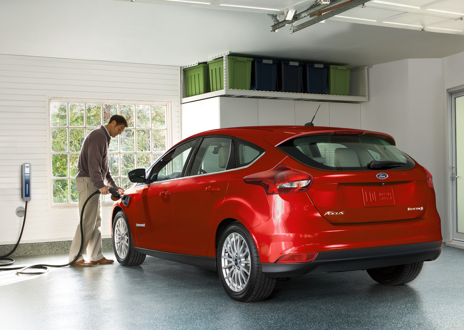 2018 Ford Focus Electric EV home charge