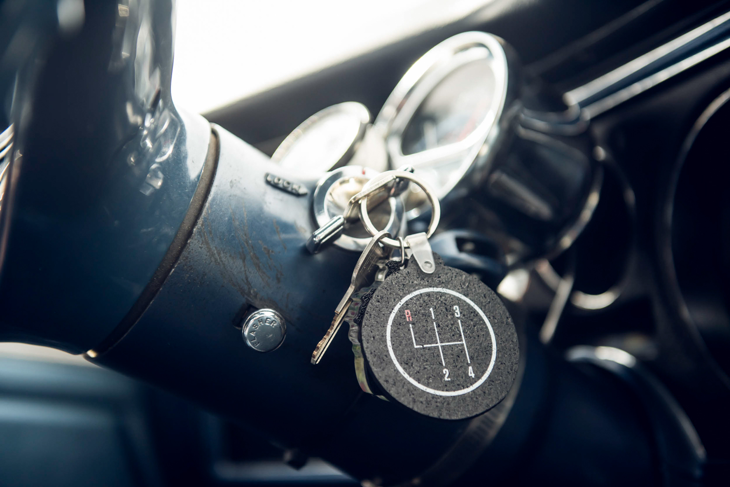 A cheap mechanical oil-pressure gauge was hastily installed before departure.