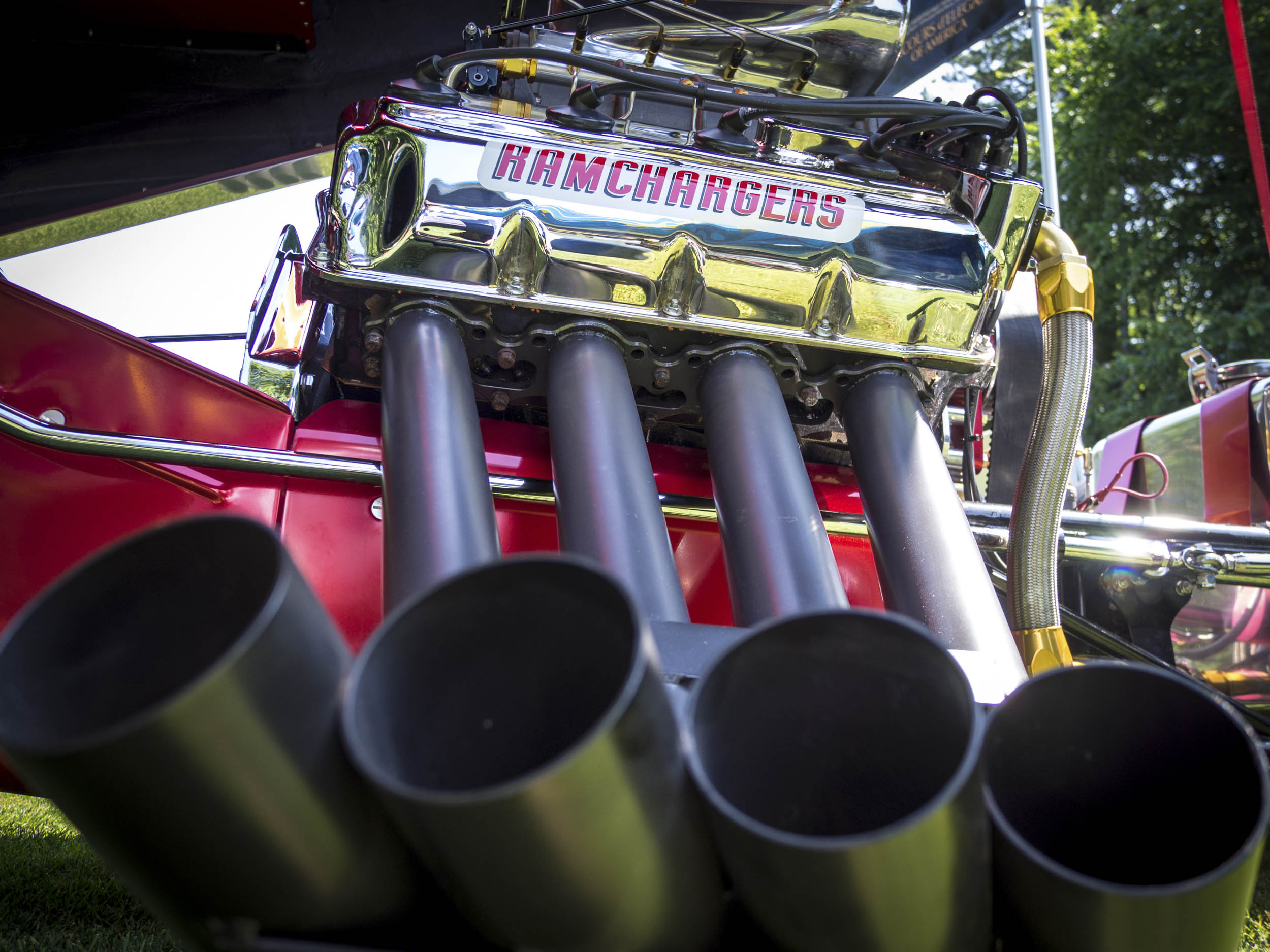 exhaust of a funny car