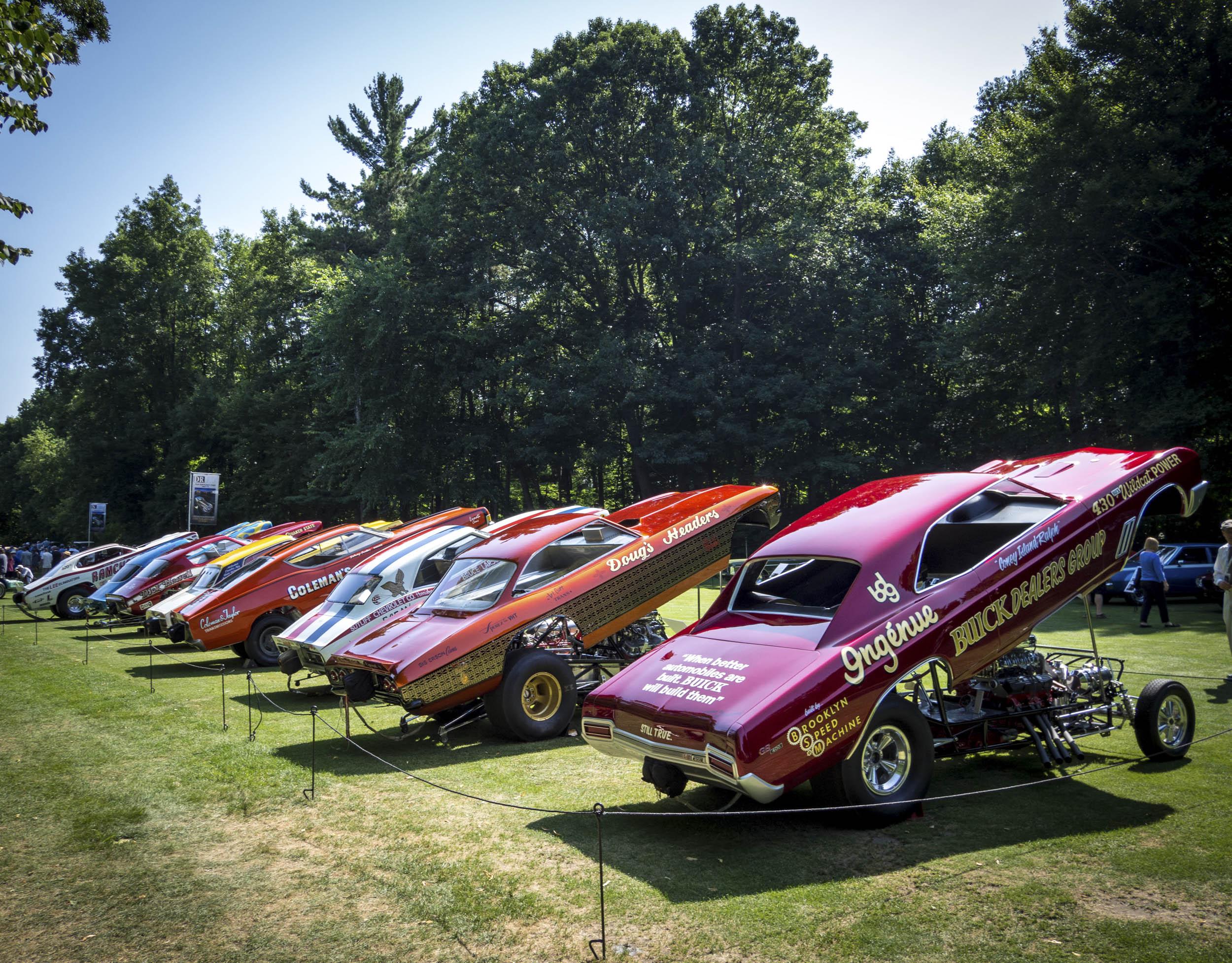Drag Racing cars on display